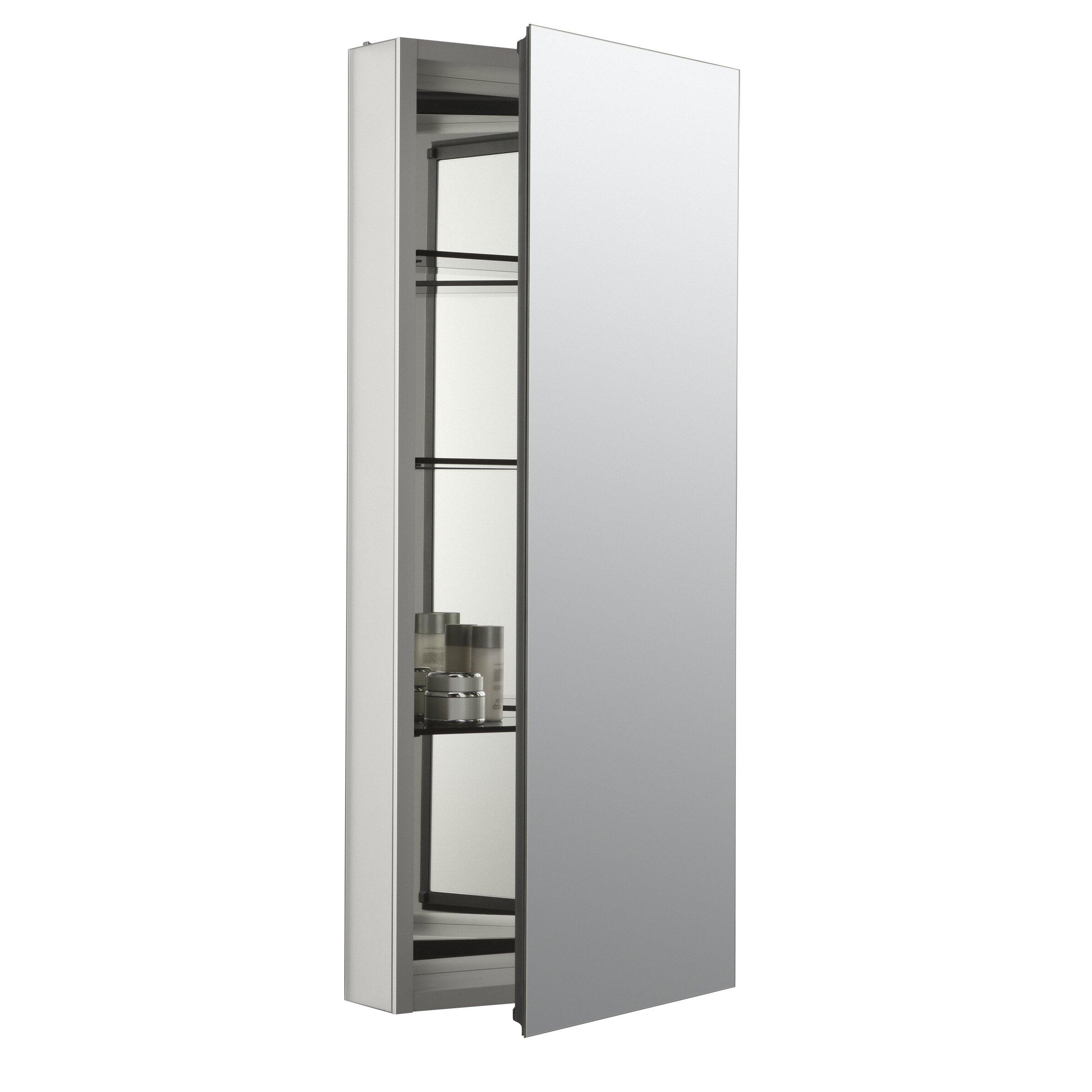 Jensen Medicine Cabinet Kohler Catalan 15 W X 36 H Aluminum Single Door Medicine Cabinet