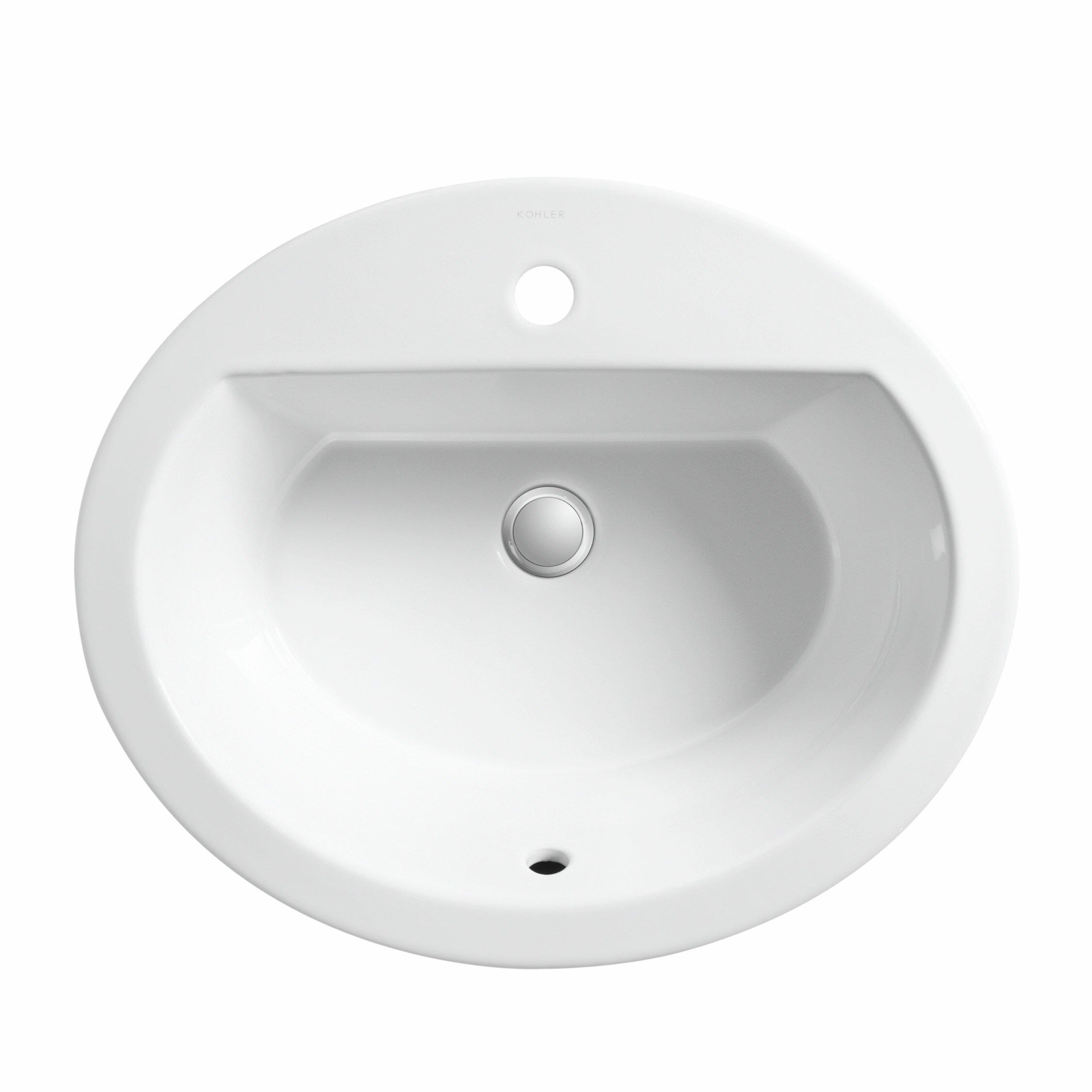 kohler bryant oval drop-in bathroom sink & reviews | wayfair