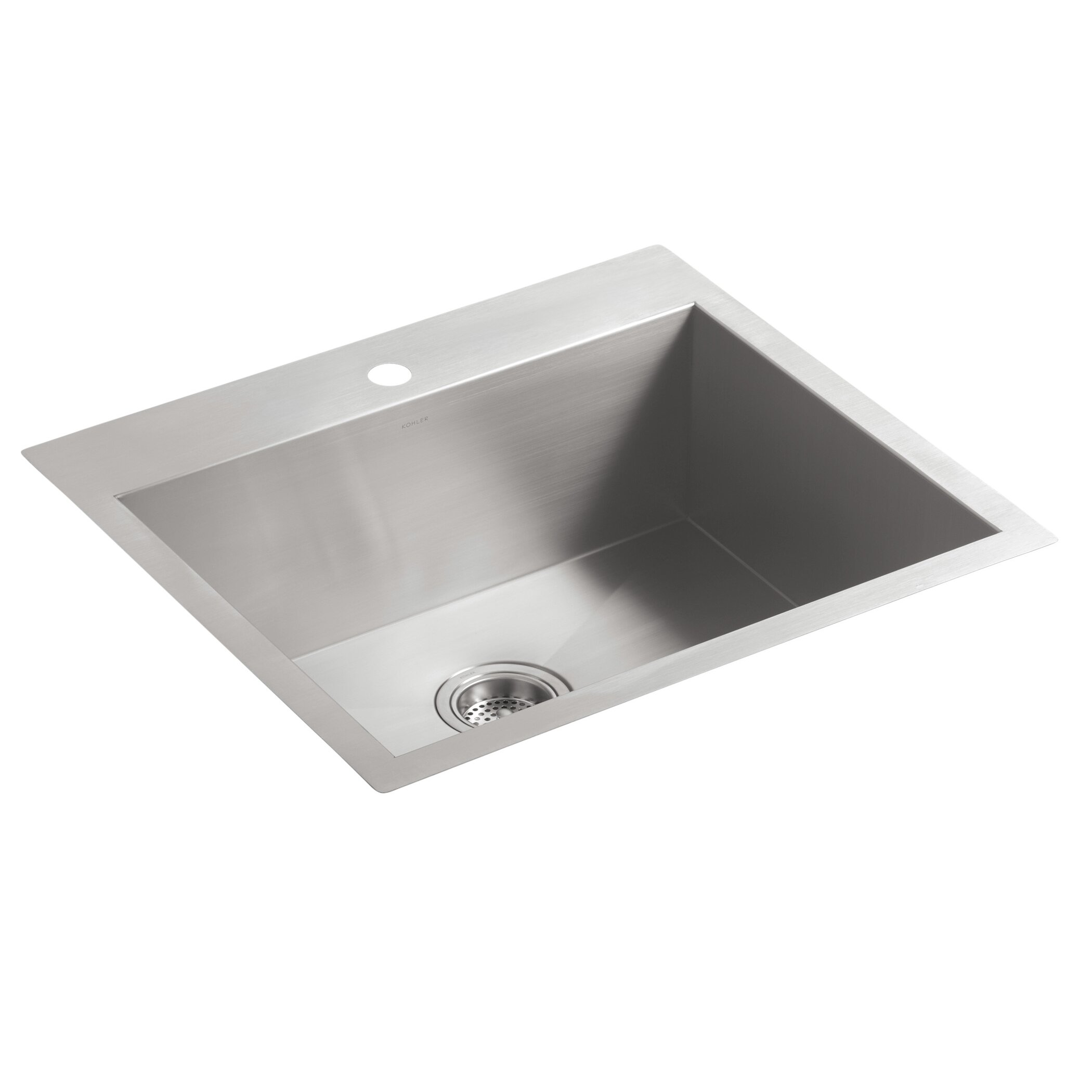White Kitchen Sink Undermount Kohler Vault 25 X 22 X 931 Top Mount Under Mount Medium Single