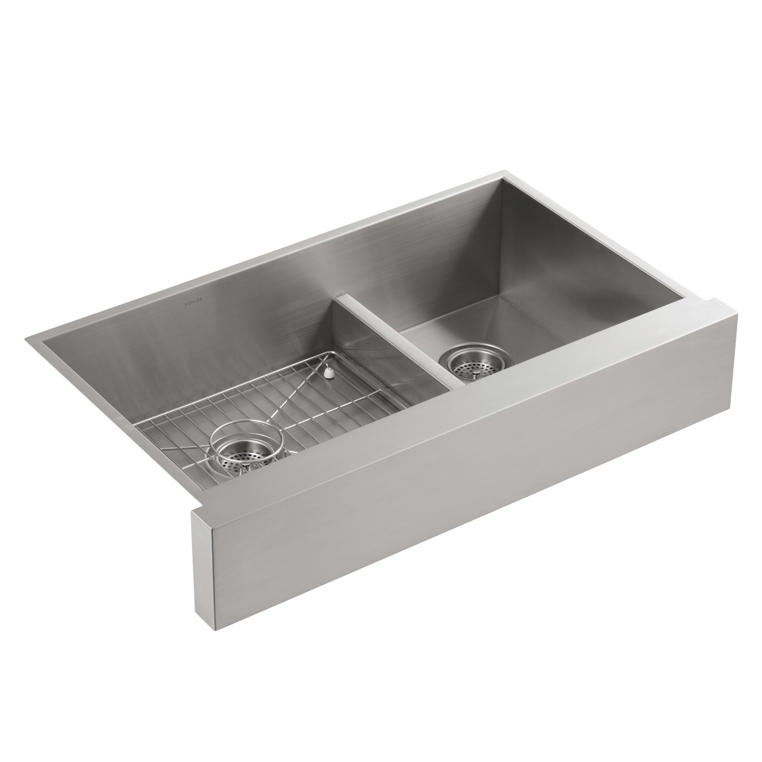 Farmhouse Apron Kitchen Sinks Kohler Vault 355 X 2125 Farmhouse Apron Kitchen Sink Reviews