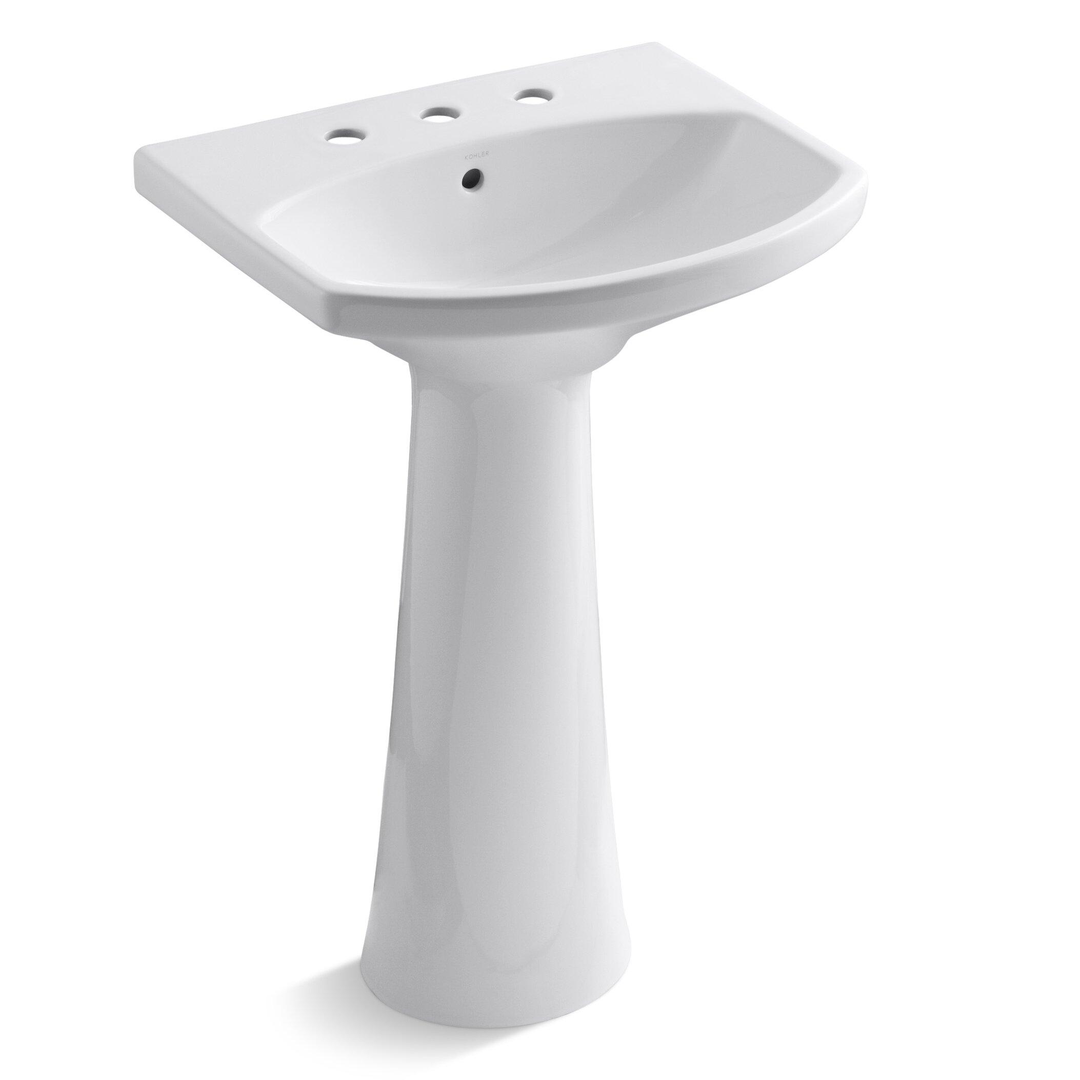 Pedestal Sink Cost : ... ... Pedestal Bathroom Sinks Kohler Part #: K-2362-8 SKU: KOH18191