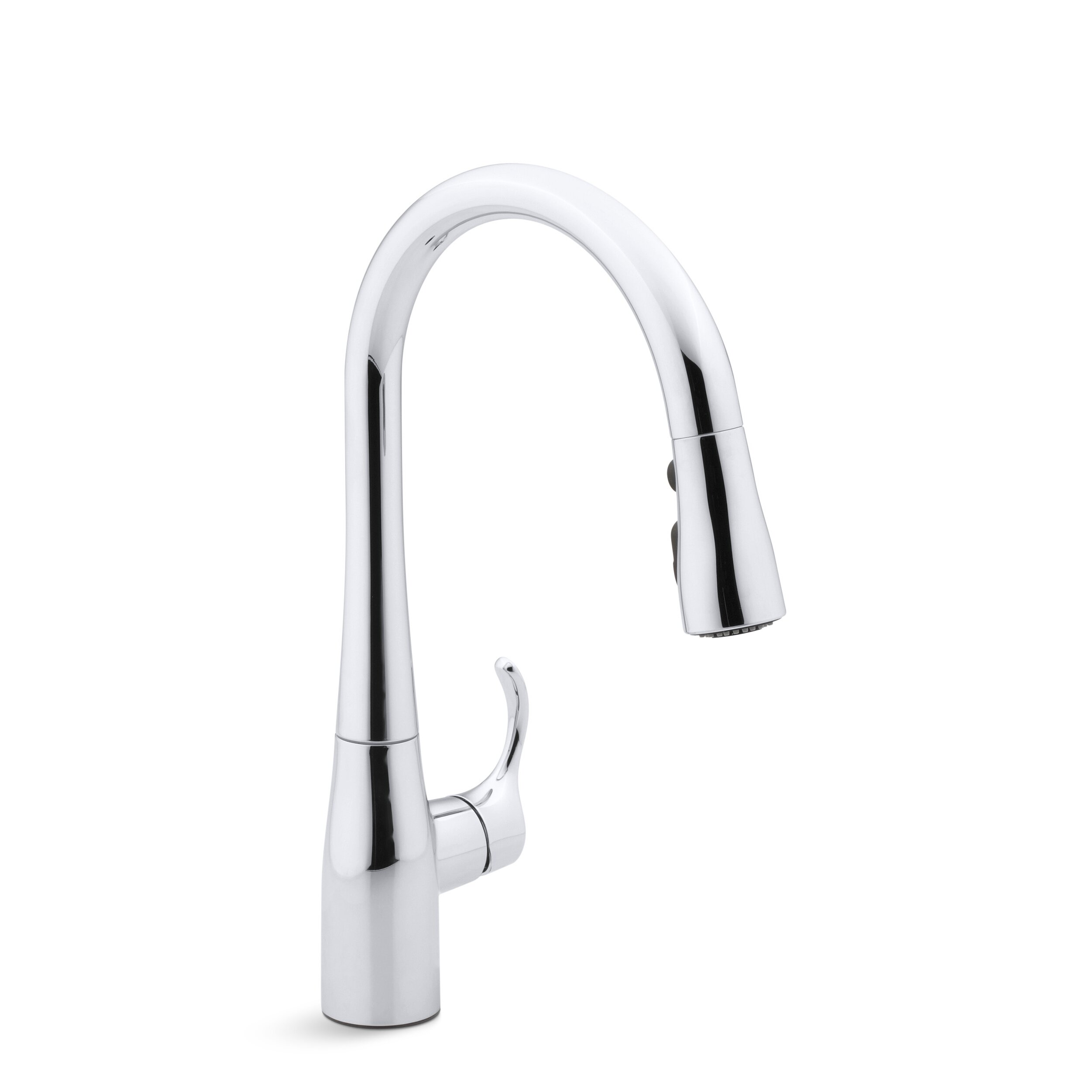 kitchen faucets c black faucet for kitchen Simplice Single Hole Kitchen Sink Faucet with 15 3 8 Pull