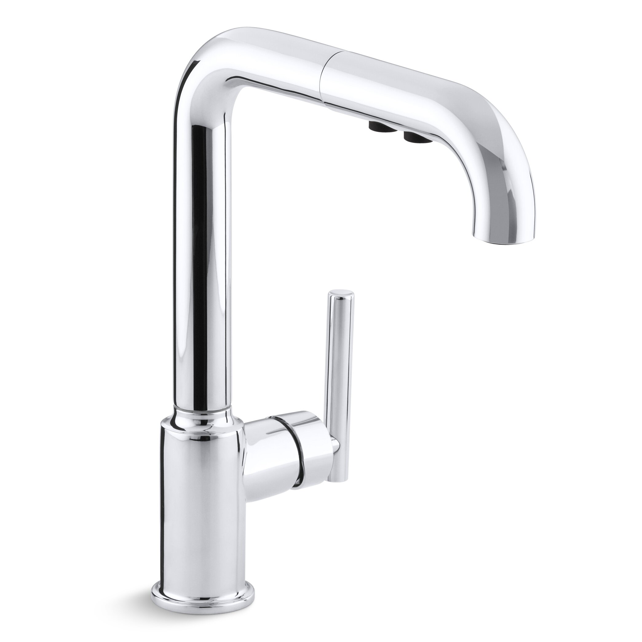 delightful Kohler Kitchen Faucets With Pull Out Spray #6: Kohler Purist Single-Hole Kitchen Sink Faucet with 8u0026quot; Pullout Spout