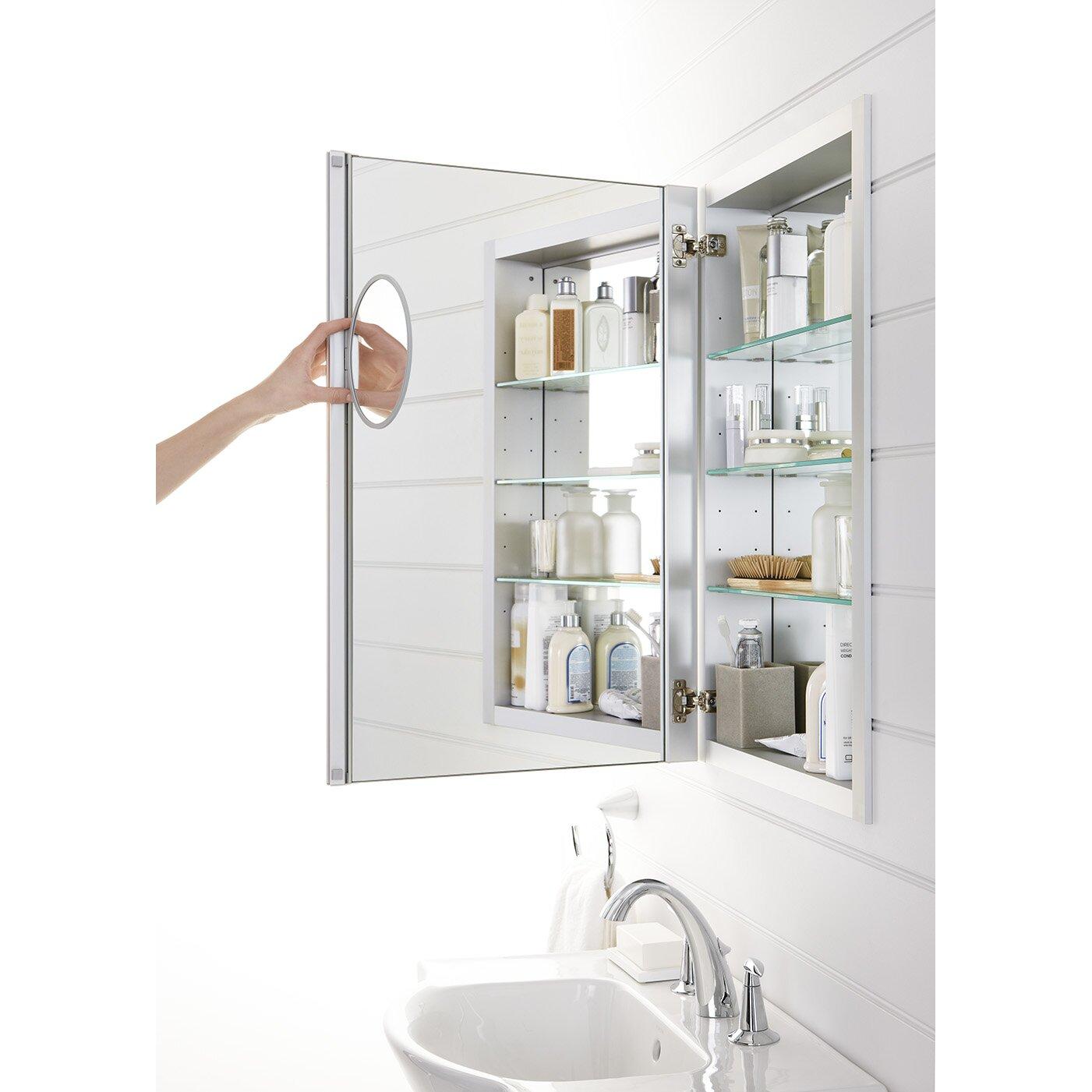Medicine Cabinet Magnet Kohler Verdera 20 W X 30 H Aluminum Medicine Cabinet With