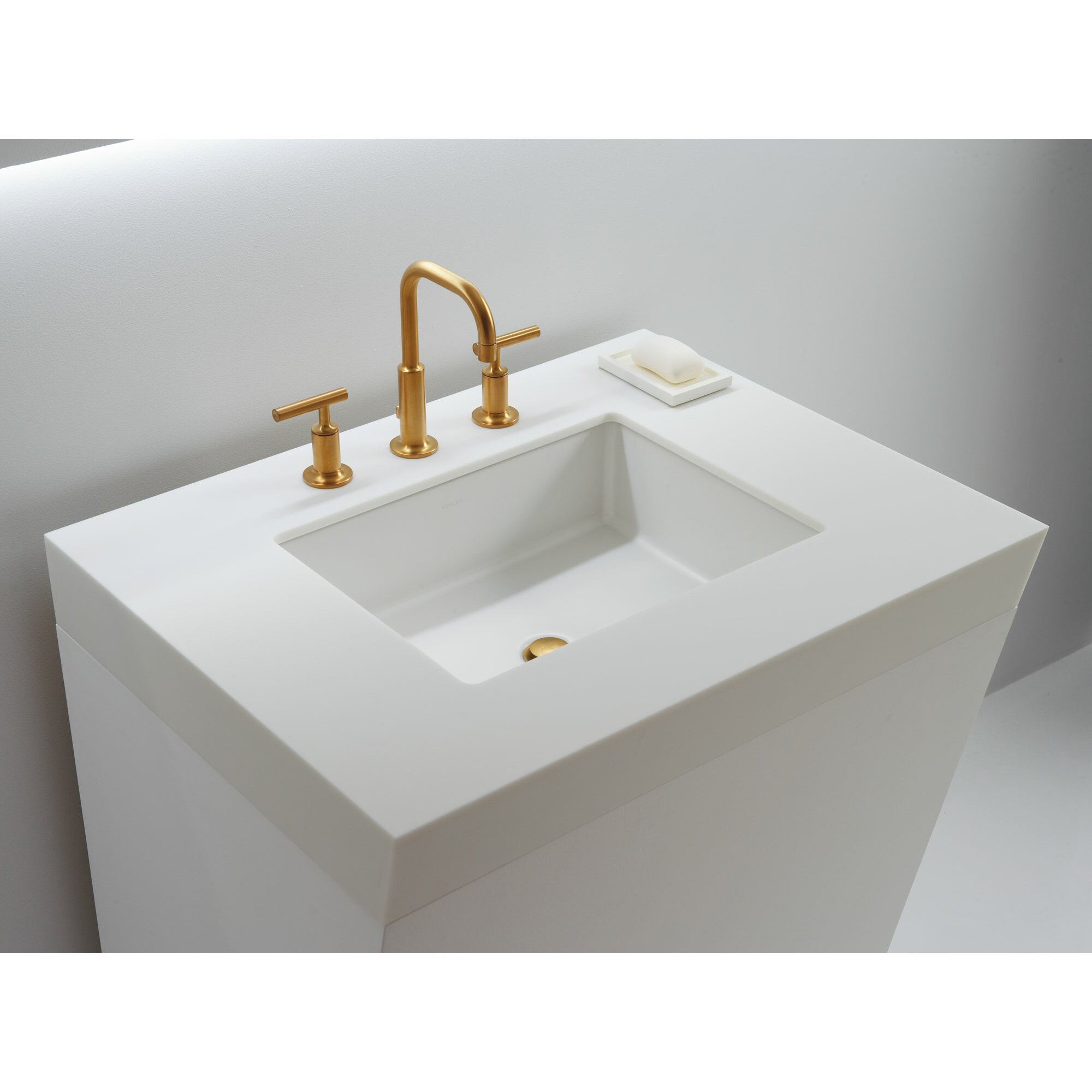 kohler undermount bathroom sink kohler verticyl rectangular undermount bathroom sink with 19038