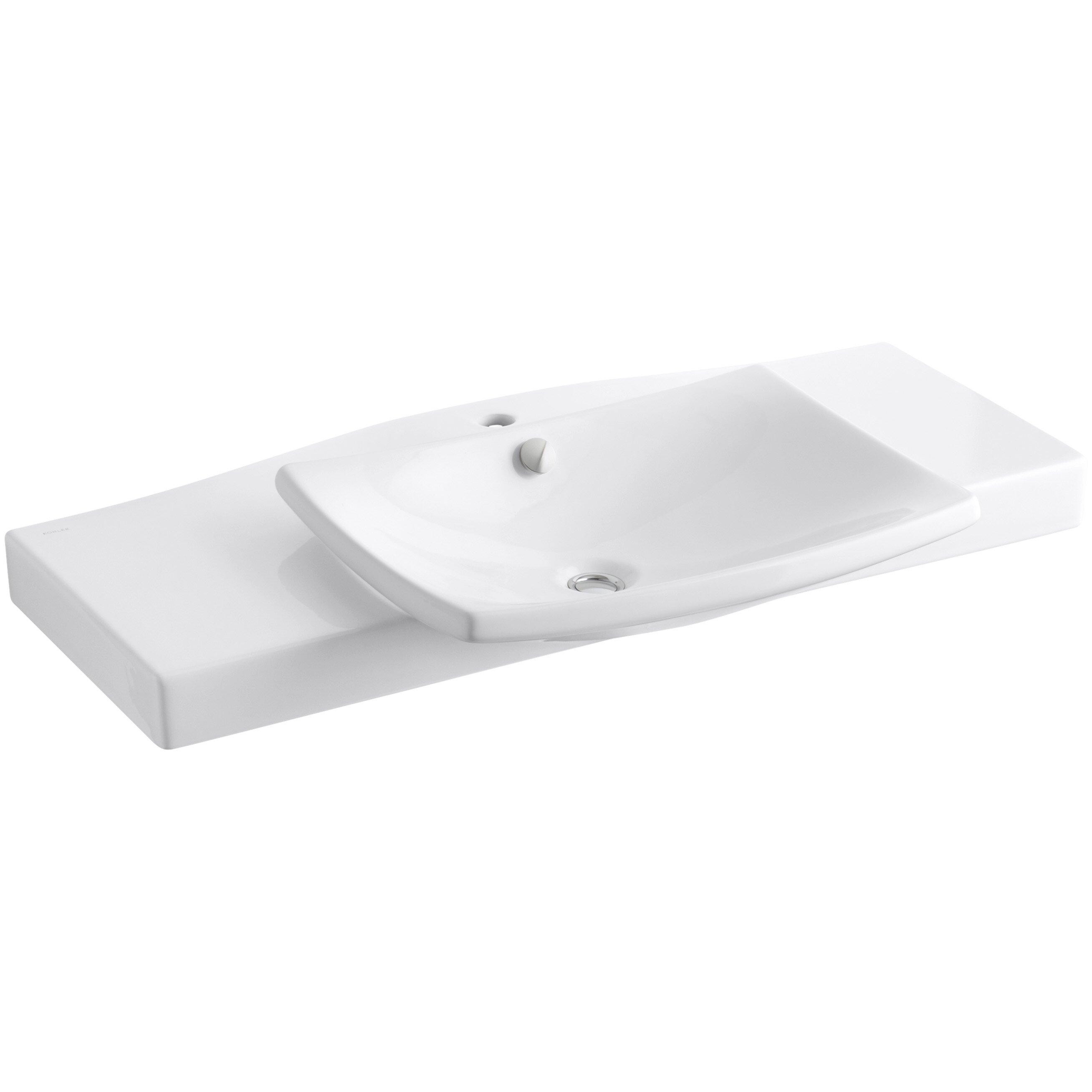 """Kohler Escale Pedestal 40"""" Single Bathroom Vanity Top & Reviews ... - Kohler Escale Pedestal 40"""" Single Bathroom Vanity Top"""
