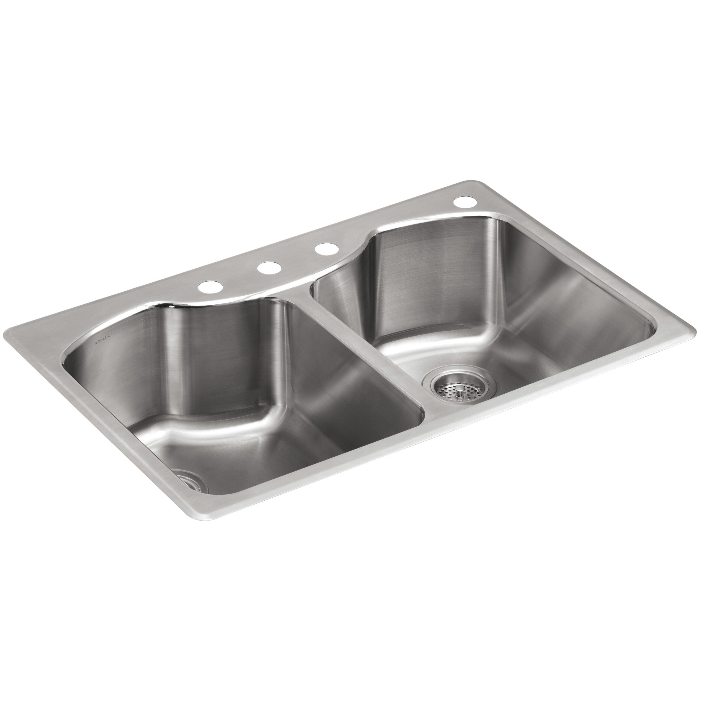 Best Rated Stainless Steel Sinks : Remodel Sinks Kitchen Sinks Kohler Part #: K-3842-4 SKU: KOH20650