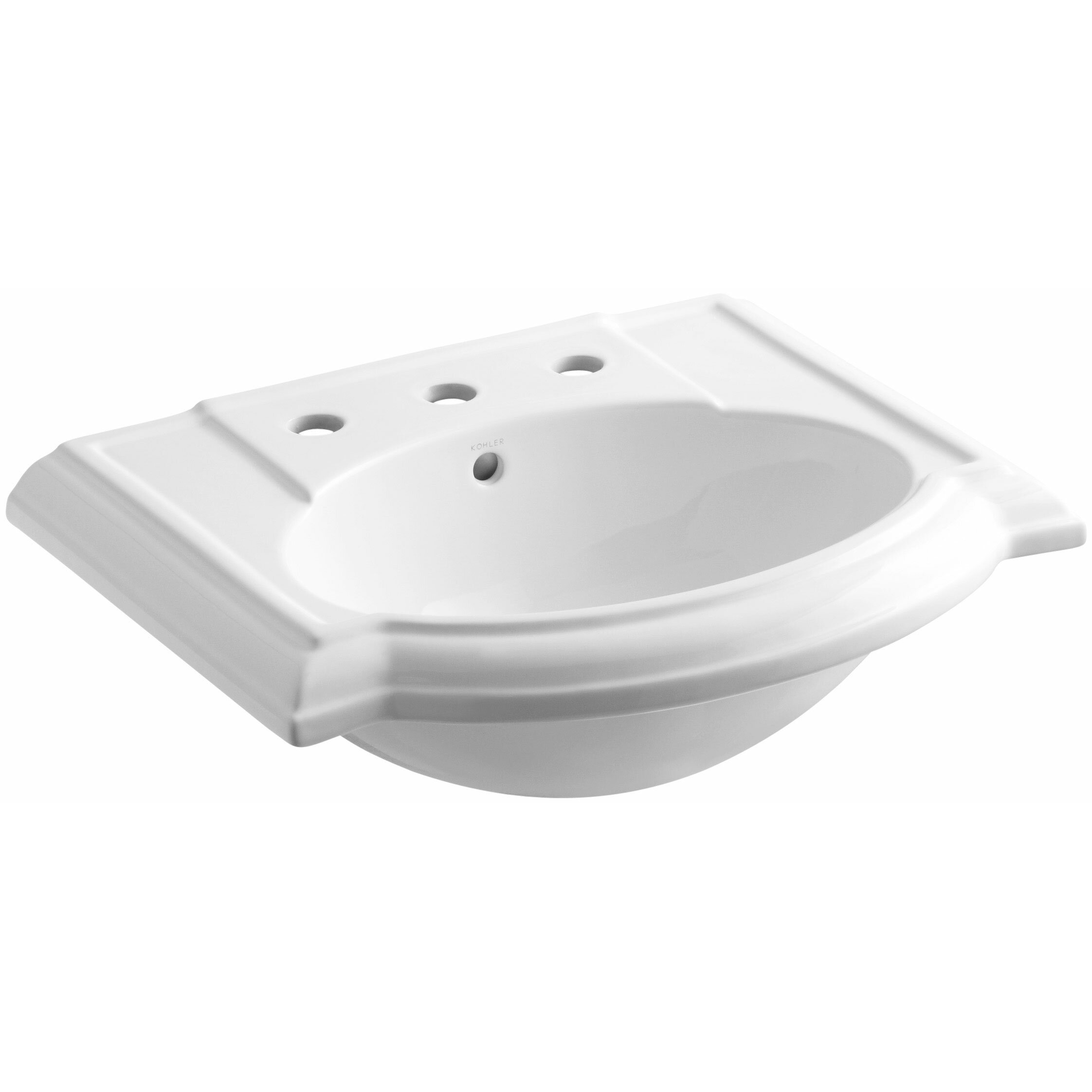 Kohler devonshire bathroom sink with 8 widespread faucet holes reviews wayfair - Kohler devonshire reviews ...
