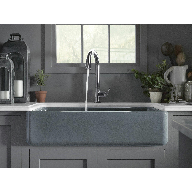 Large Double Sink Kitchen : Home Improvement Kitchen Fixtures ... Farmhouse / Apron Kitchen Sinks ...
