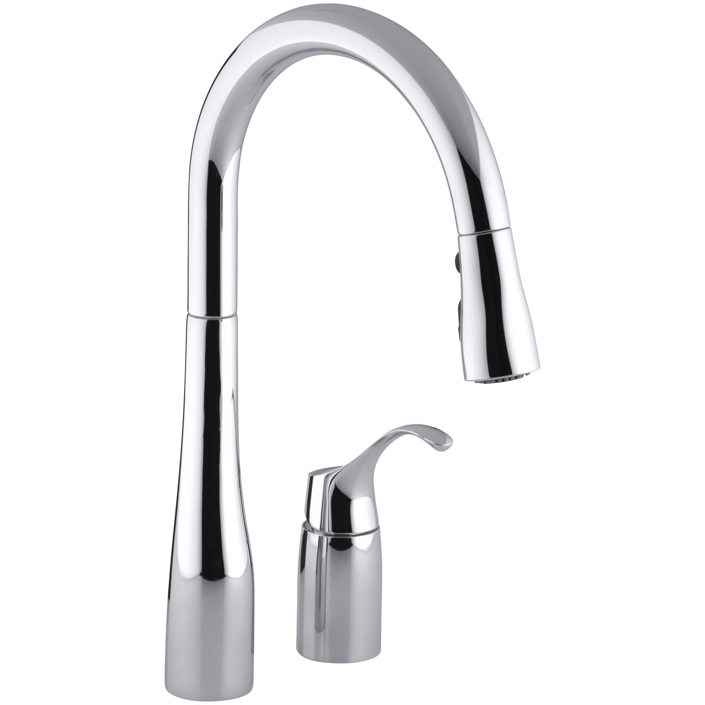 Kohler Simplice TwoHole Kitchen Sink Faucet with 1618 Pull – Kitchen Sink Faucet