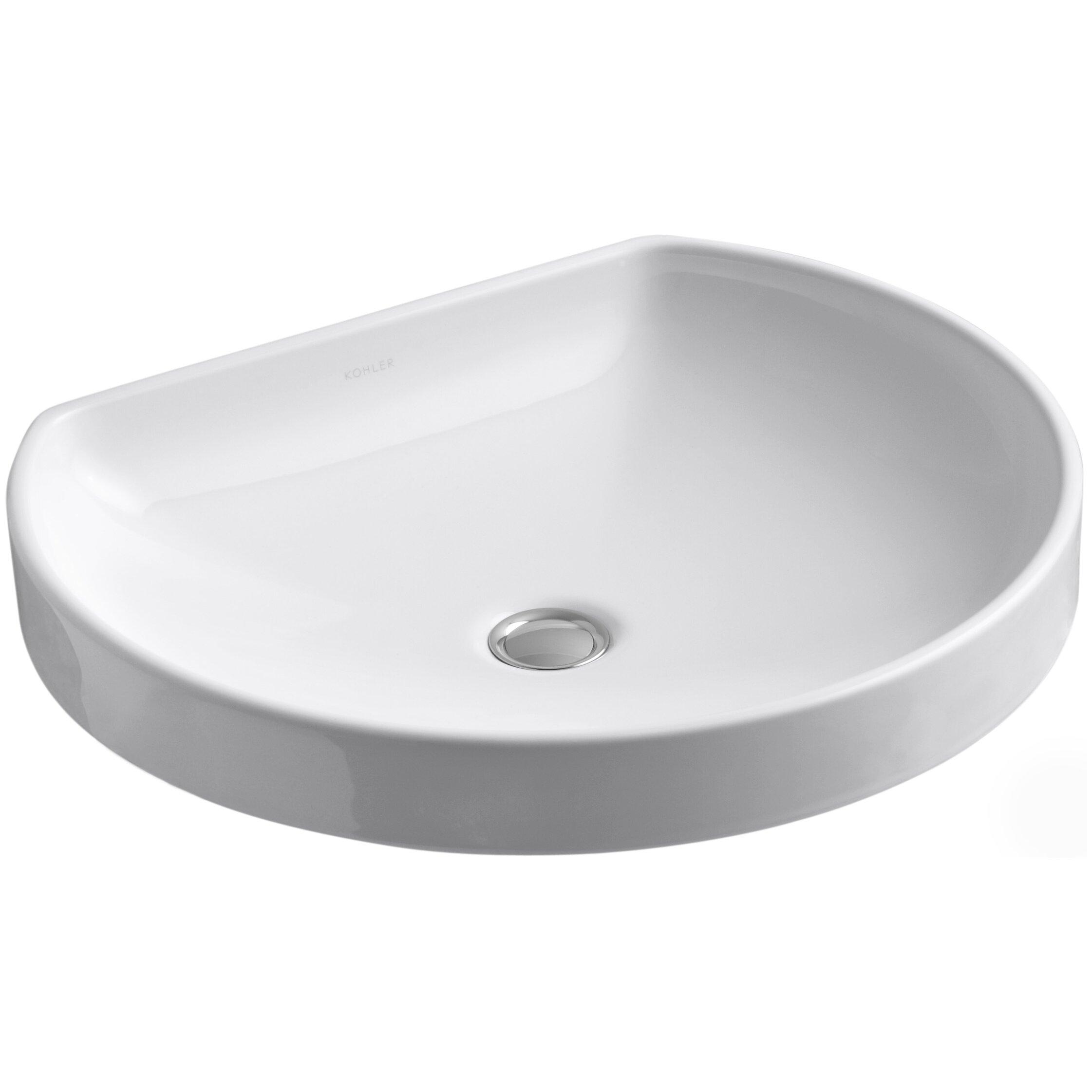 kohler watercove wading pool drop-in bathroom sink & reviews | wayfair