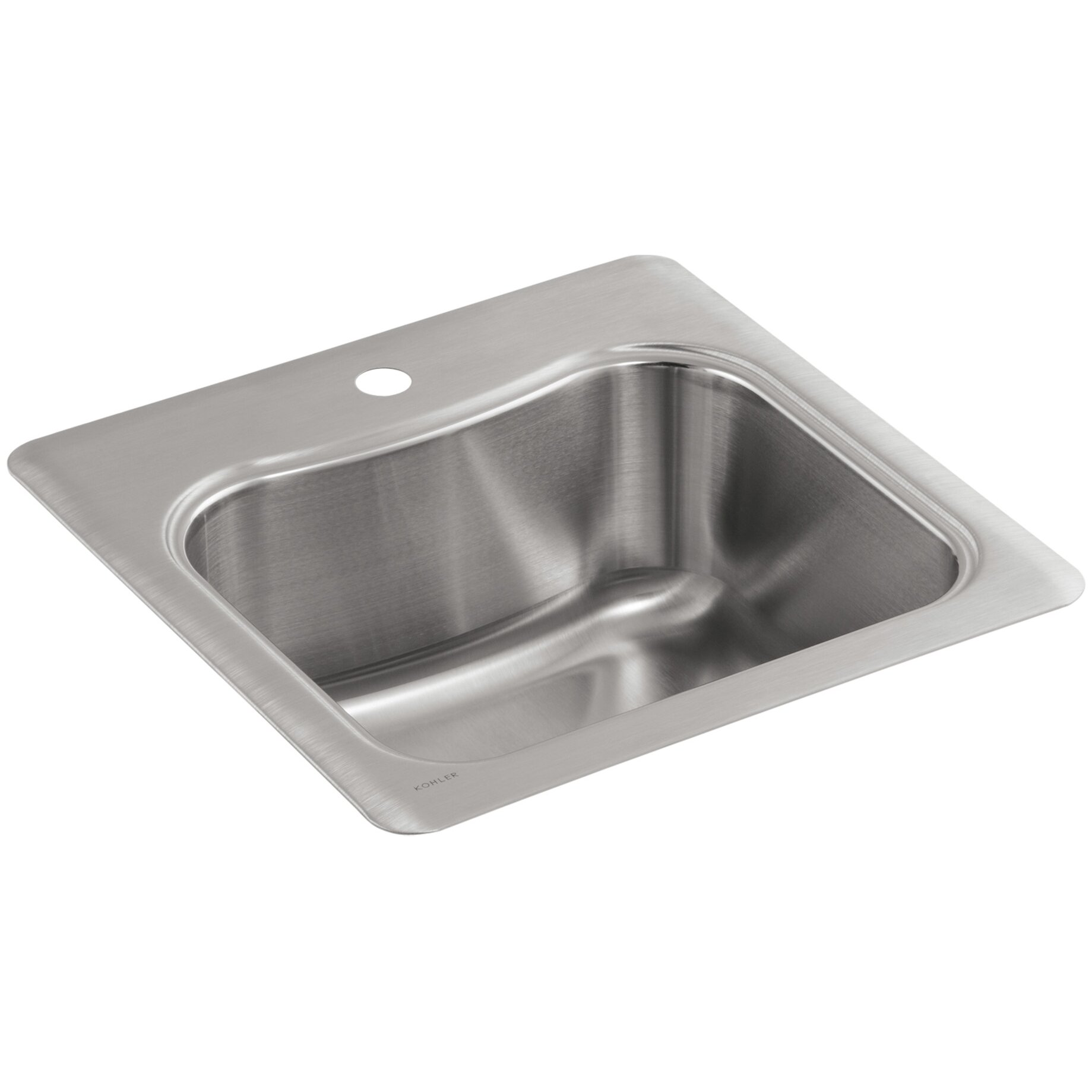 Kohler Staccato Top-Mount Single-Bowl Bar Sink with Single Faucet Hole ...