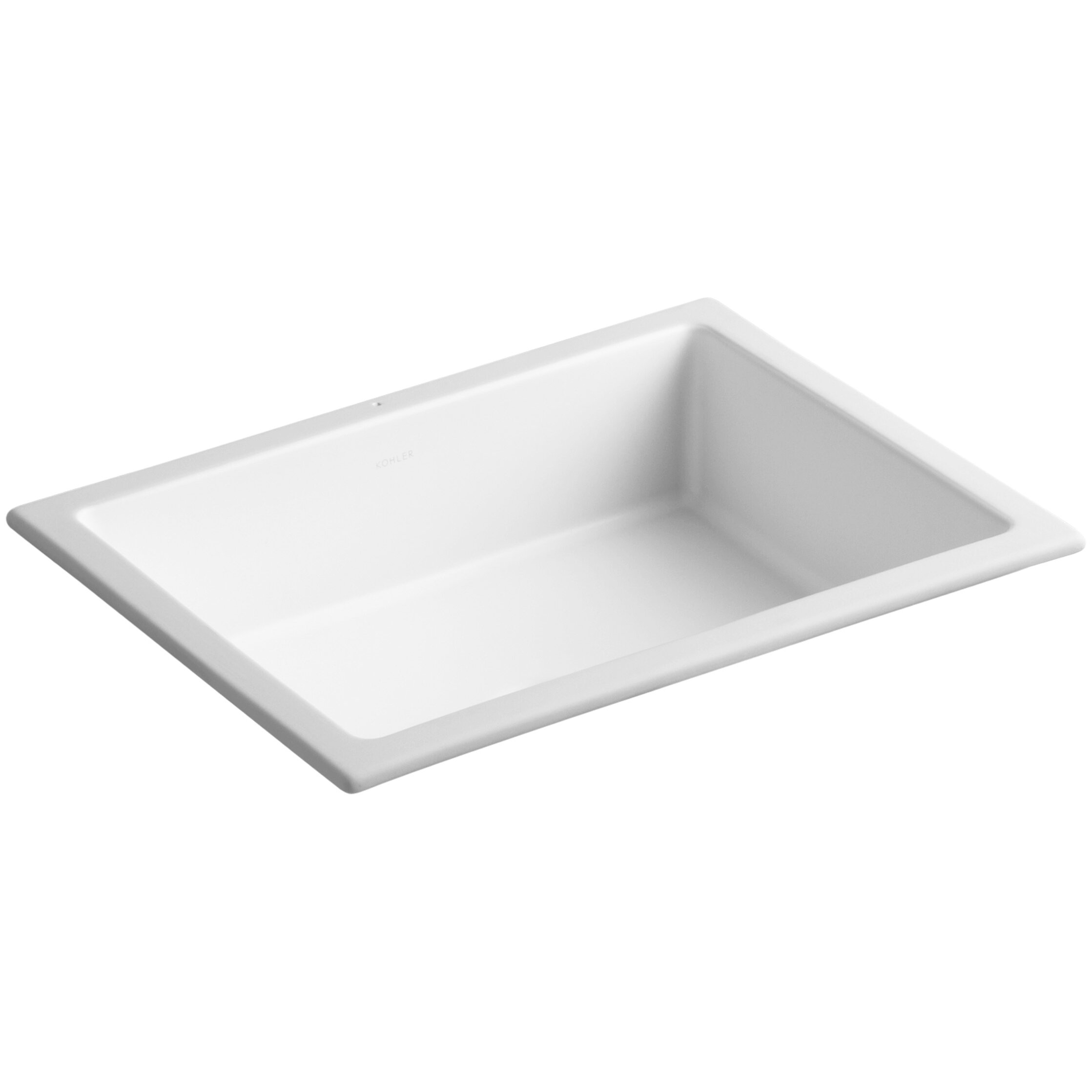 Square bathroom sinks - Kohler Verticyl Rectangular Undermount Bathroom Sink With Overflow