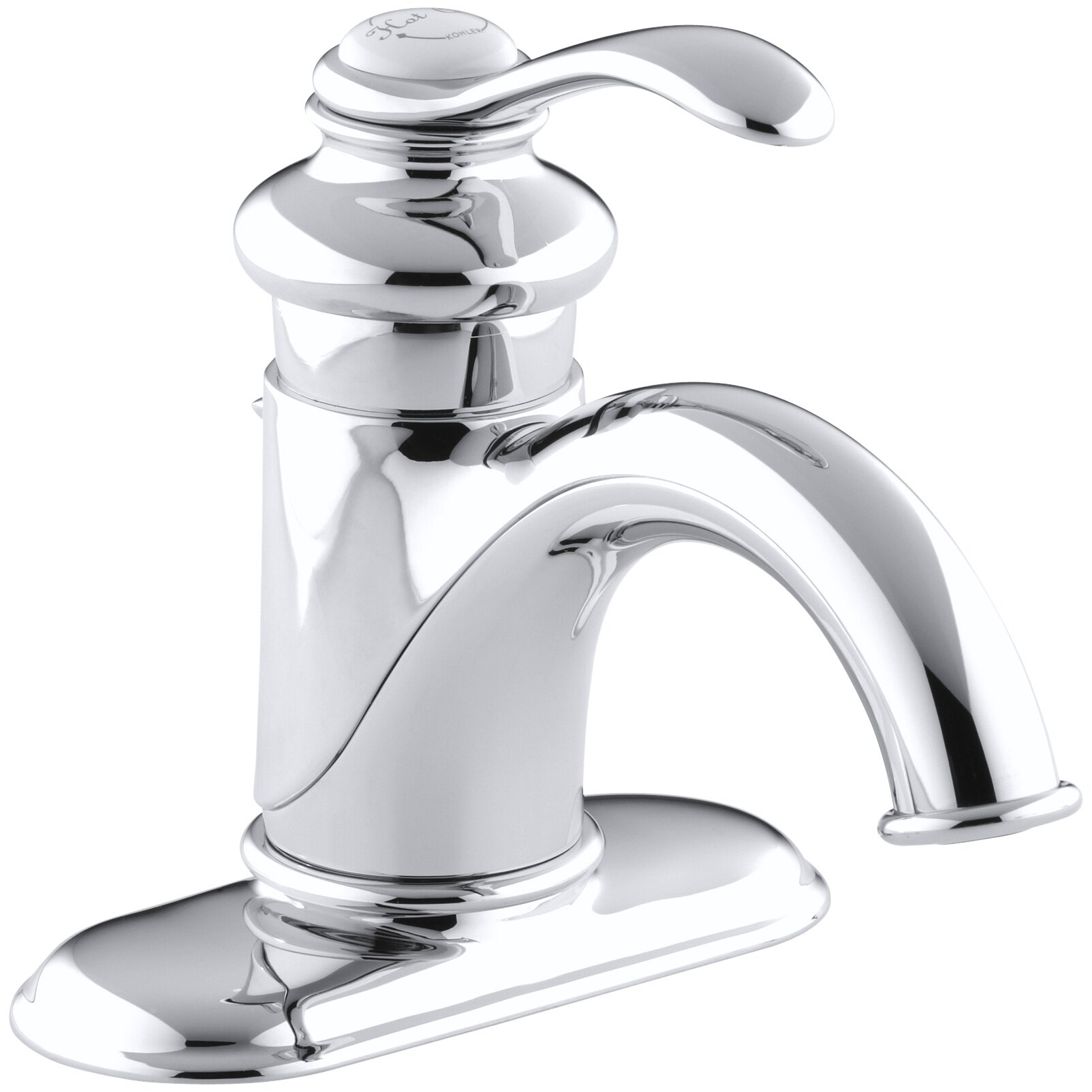 Kohler Fairfax Centerset Bathroom Sink Faucet with Single Lever Handle ...