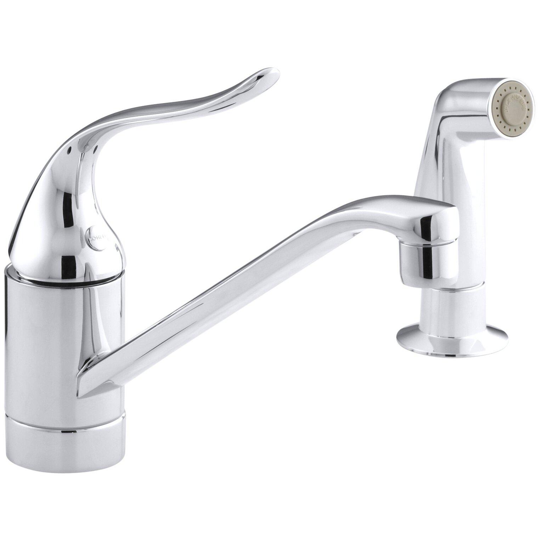 Kohler Kitchen Faucet Parts Lookup: Kohler Coralais Two-Hole Kitchen Sink Faucet With 8-1/2