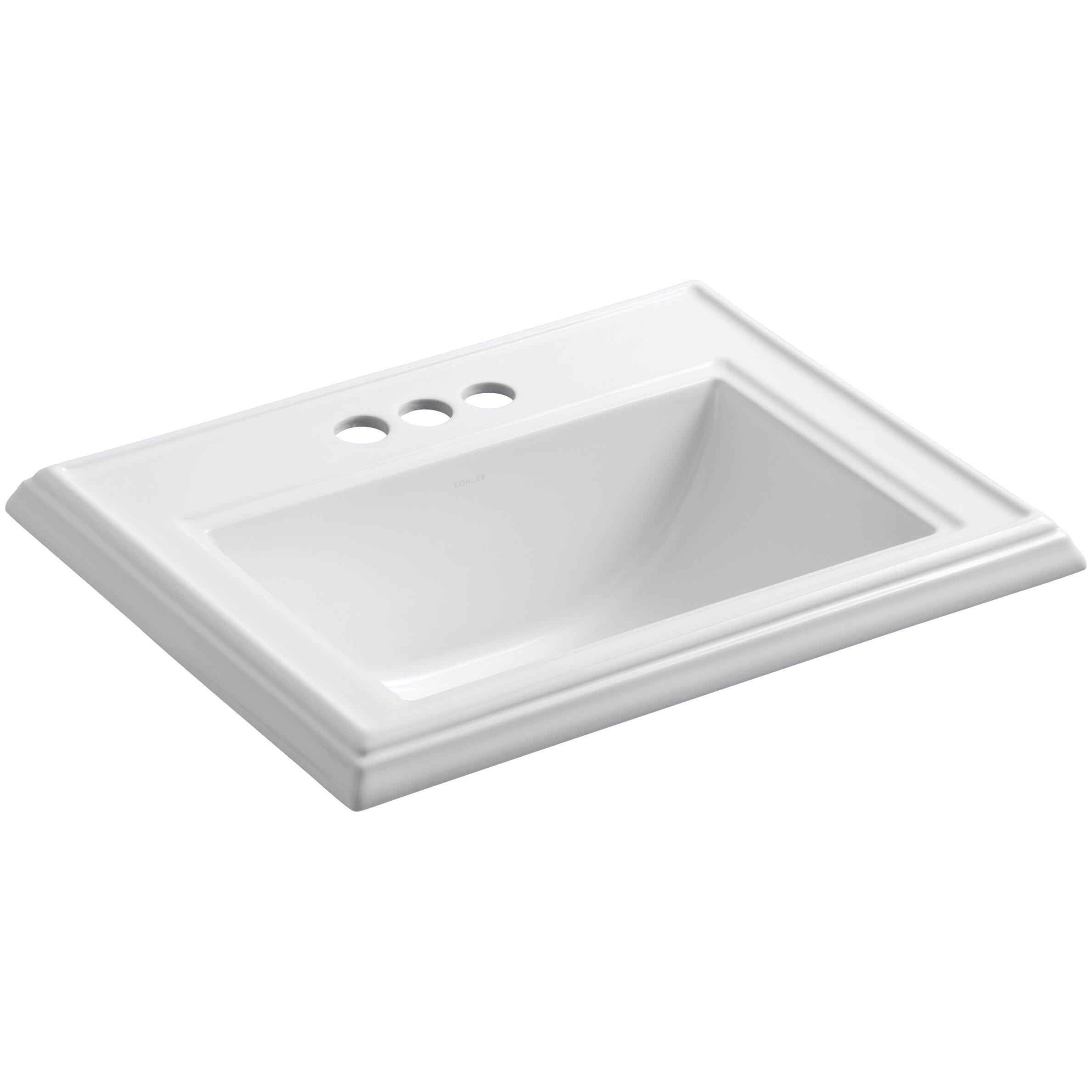 Kohler Memoirs Classic Drop In Bathroom Sink Reviews Wayfair