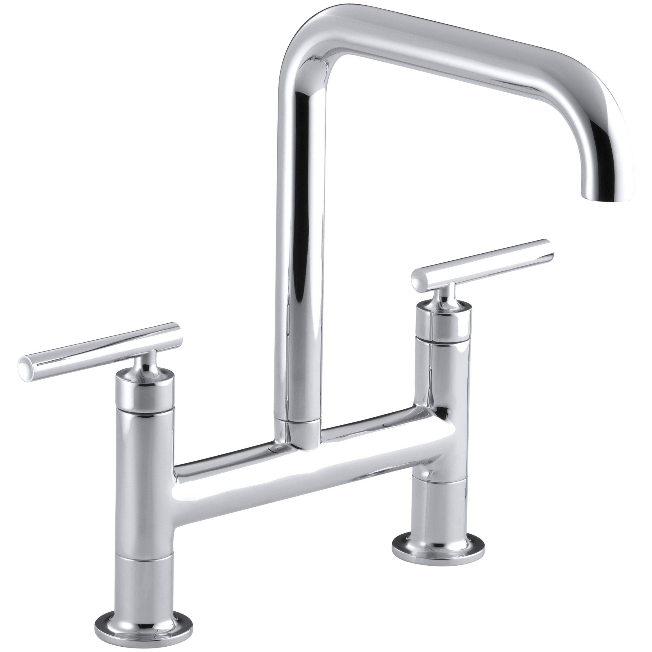 Articulating Kitchen Faucet Modern 2 Hole Kitchen Faucets Allmodern