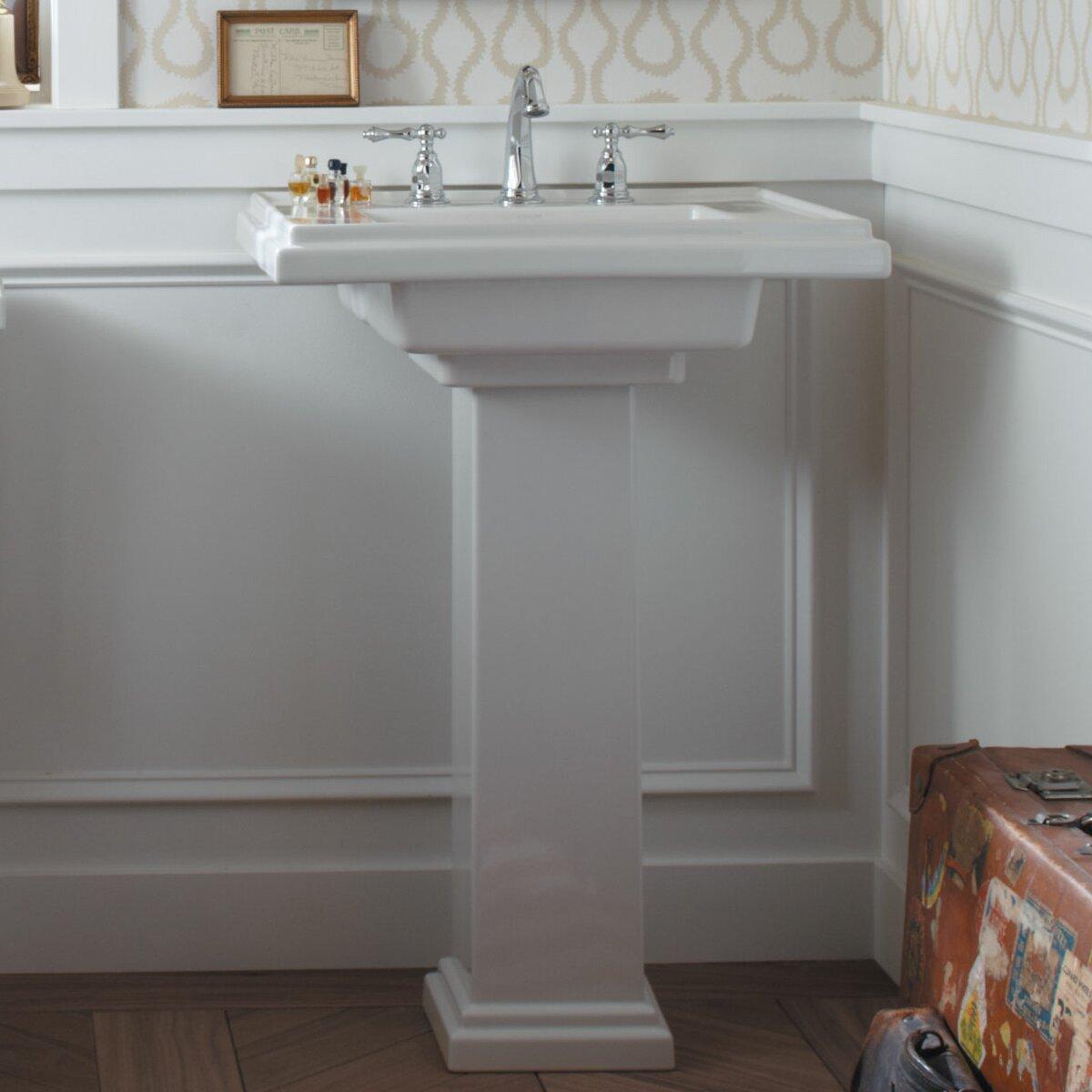 "Kohler Tresham 30"" Pedestal Bathroom Sink & Reviews | Wayfair"