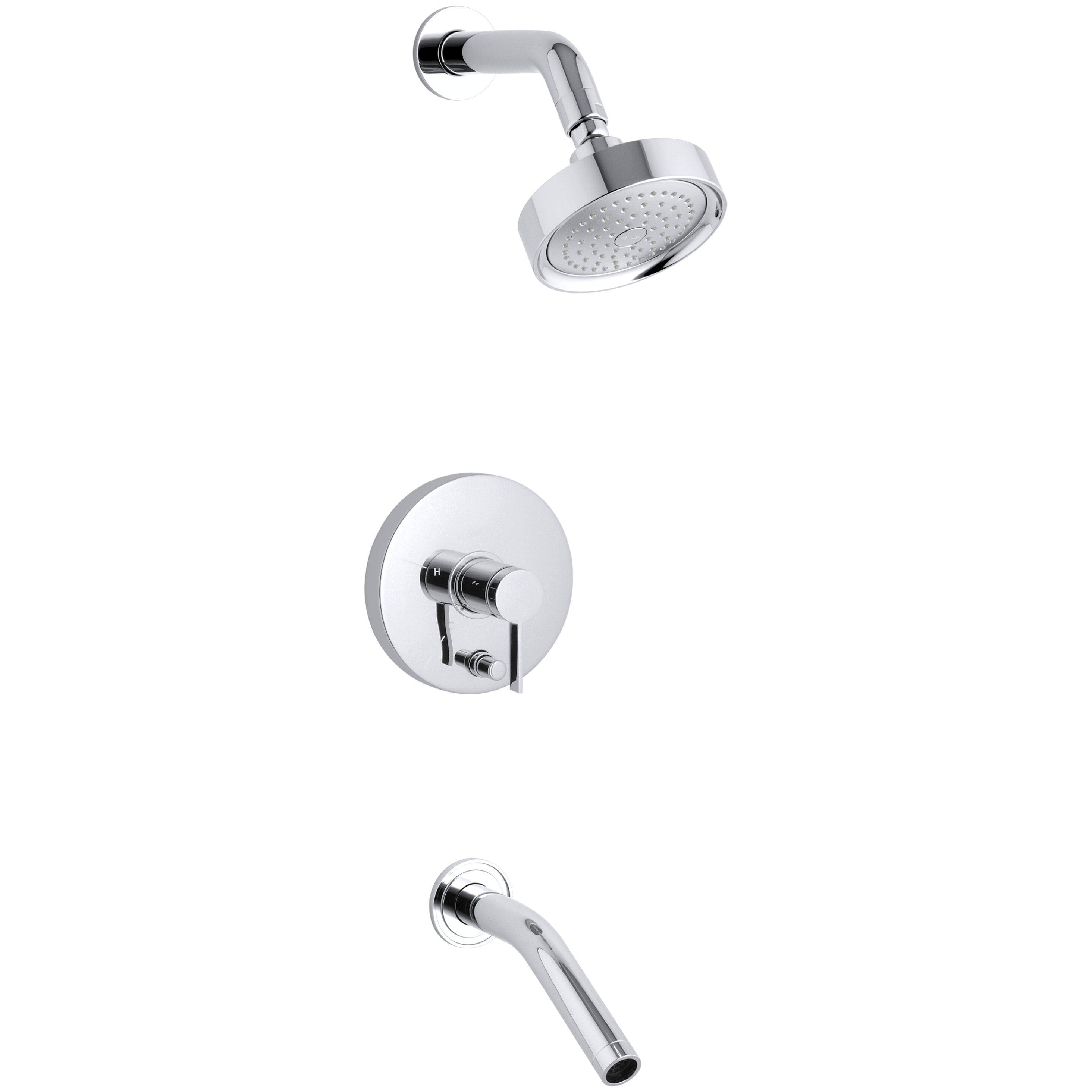 Kohler Stillness Rite-Temp Pressure-Balancing Bath and Shower ... - Kohler Stillness Rite-Temp Pressure-Balancing Bath and Shower Faucet Trim  with Lever Handle