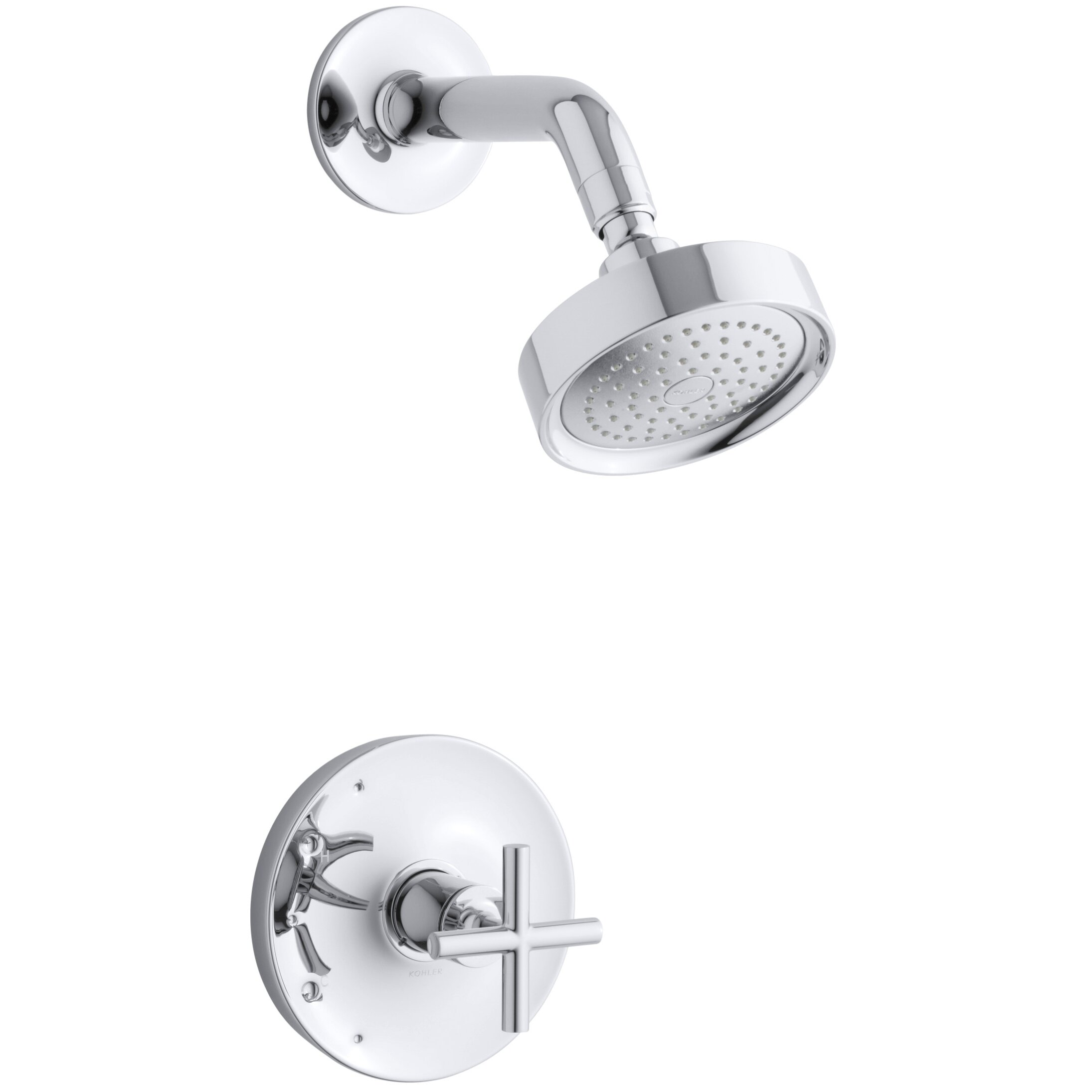 kohler purist rite temp pressure balancing shower faucet trim kohler purist rite temp pressure balancing shower faucet trim cross handle valve
