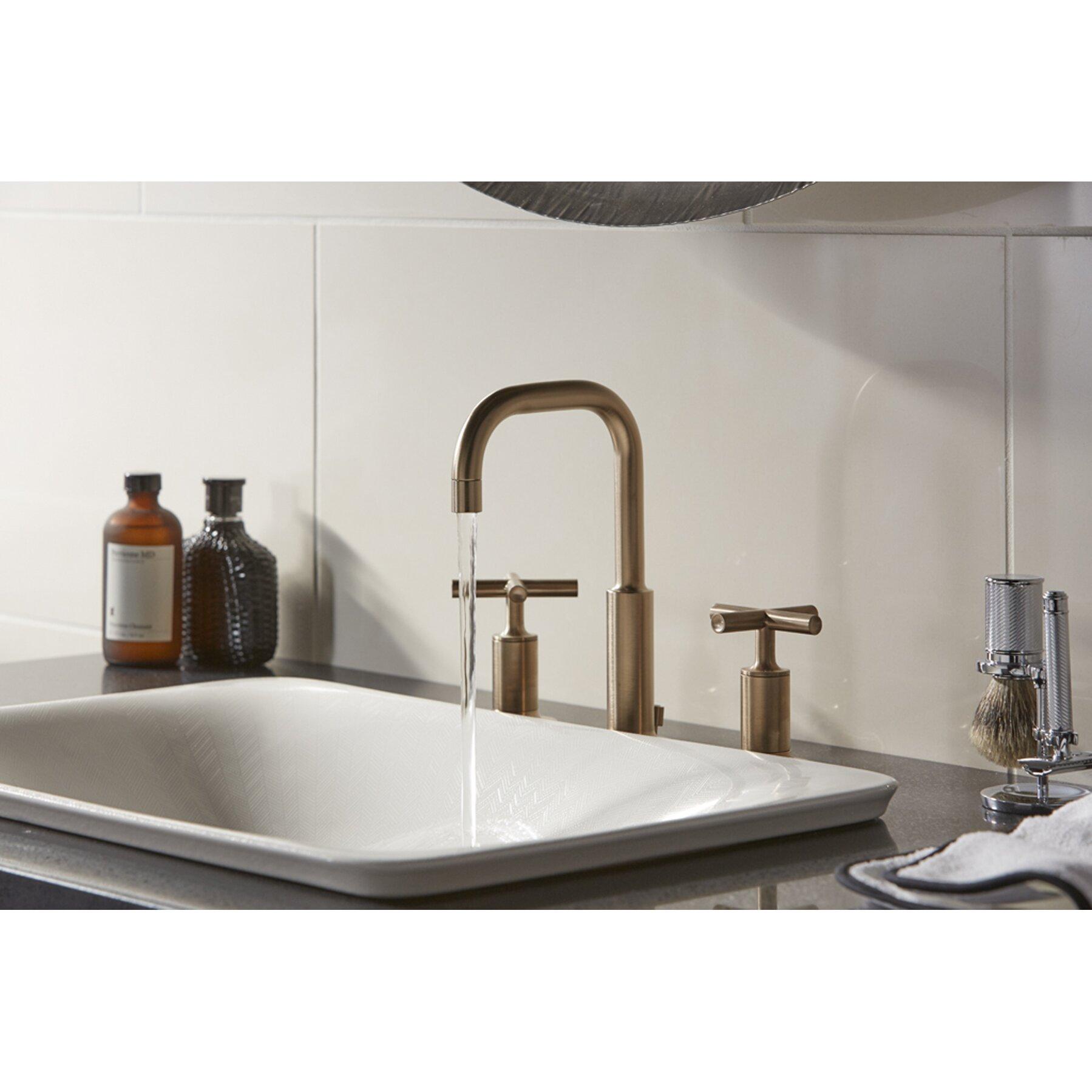 KOHLER Vox White Vessel Rectangular Bathroom Sink with Overflow