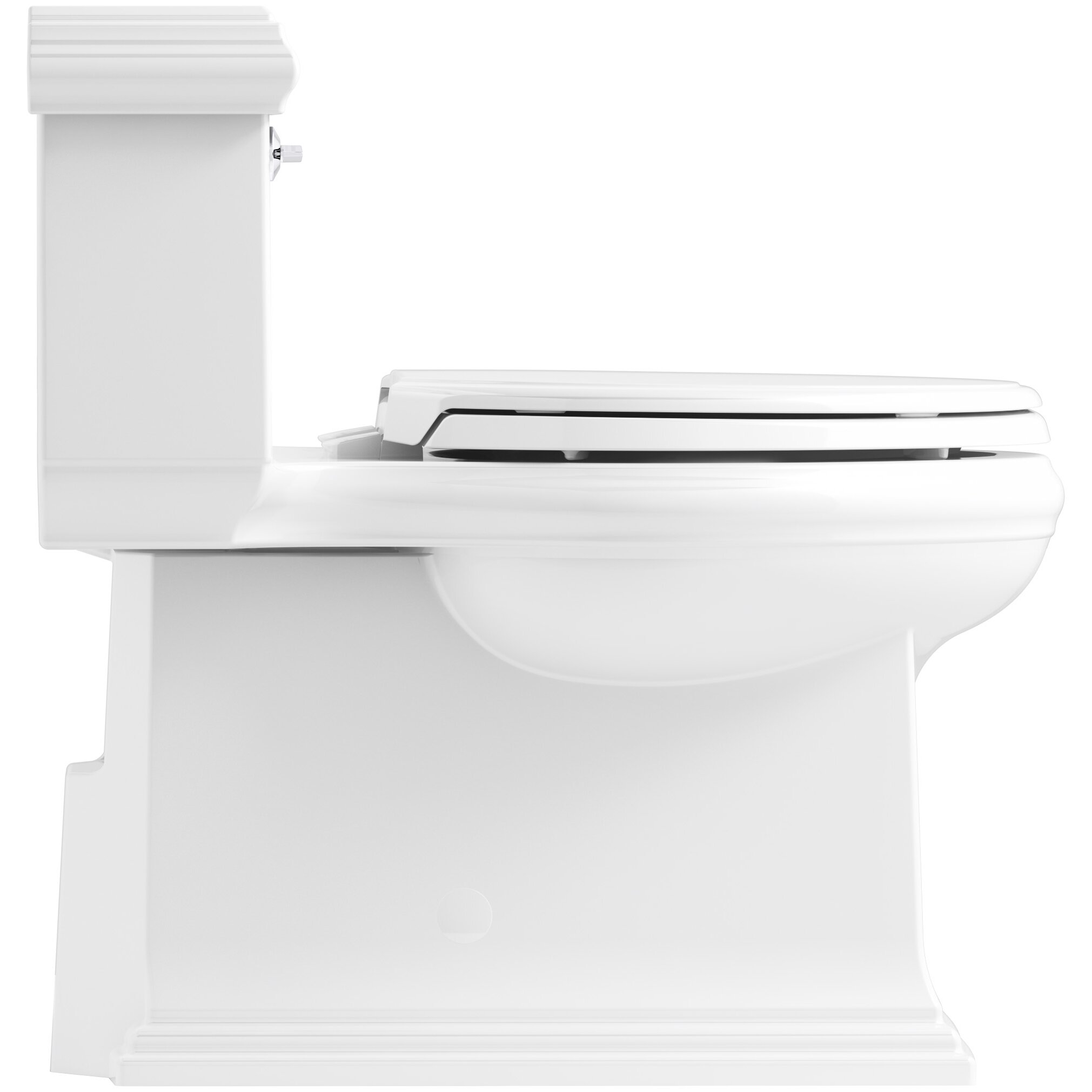 Kohler Memoirs Classic Comfort Height Skirted One Piece Compact Elongated 1 28 Gpf Toilet With Aquapiston