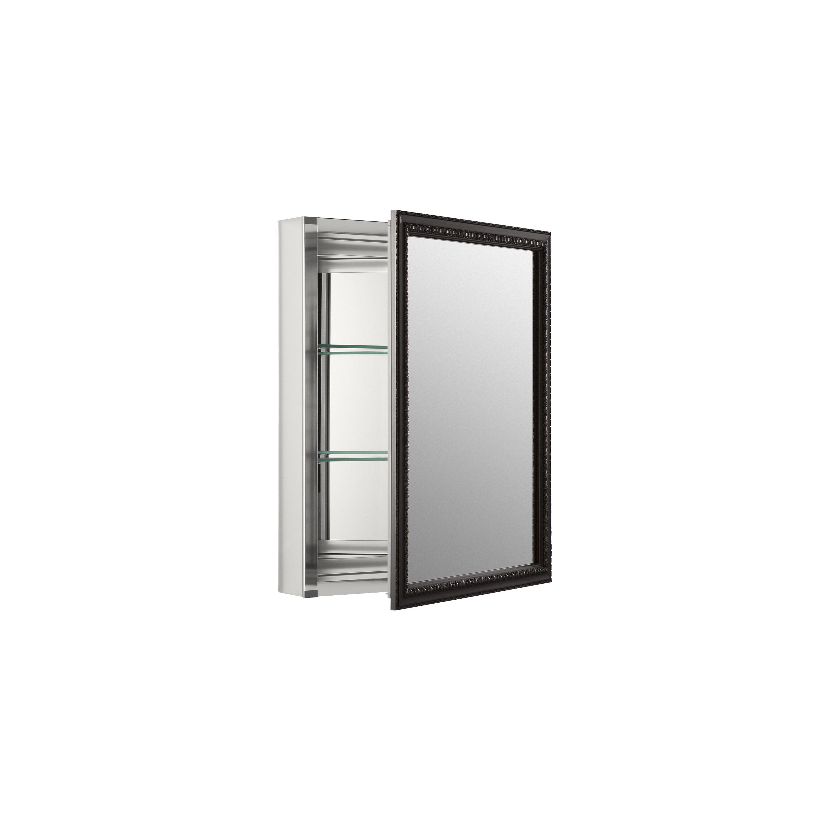 Jensen Medicine Cabinet Kohler 20 X 26 Wall Mount Mirrored Medicine Cabinet With
