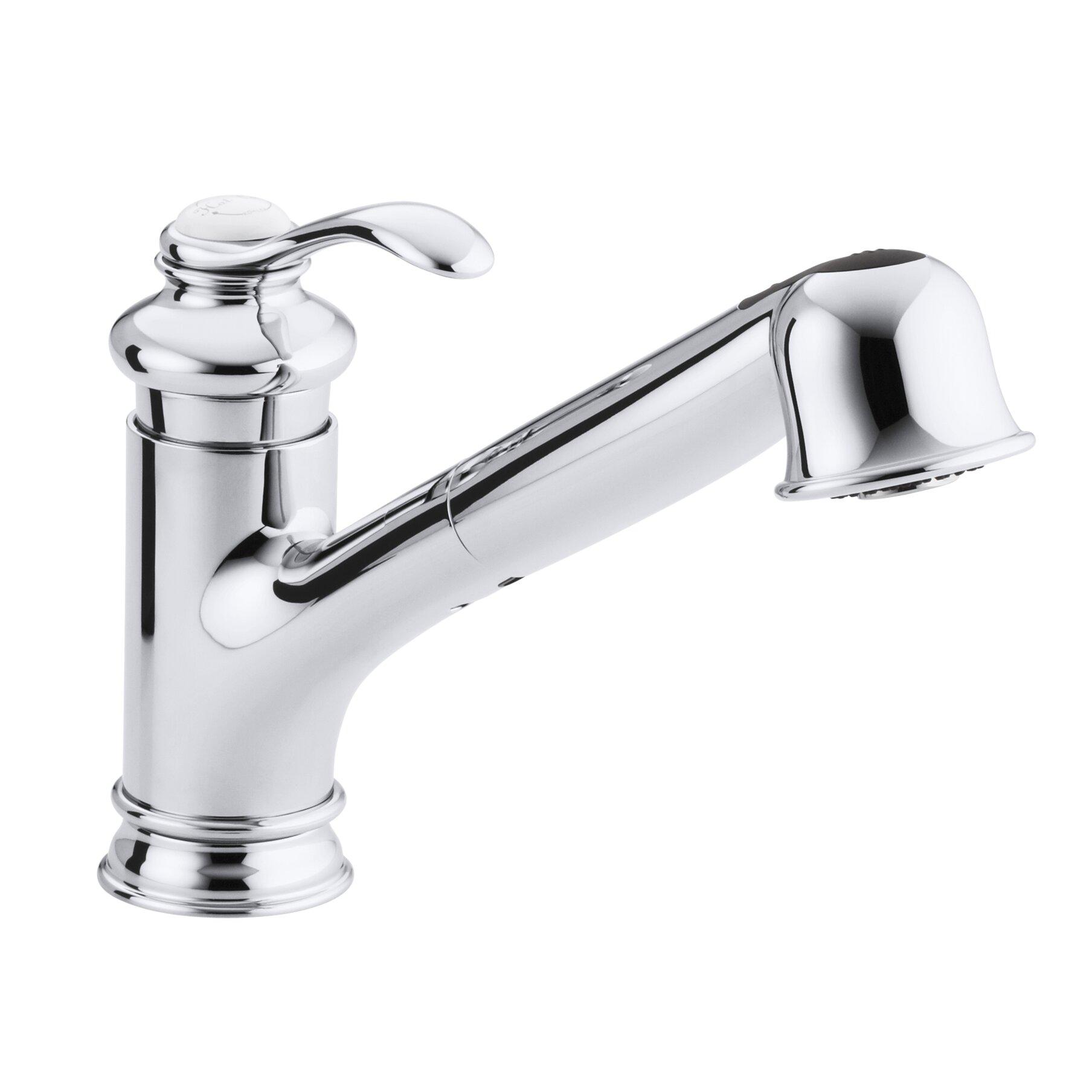 Kitchen Sink Faucets Reviews Kohler Fairfax Single Hole Or Three Hole Kitchen Sink Faucet With