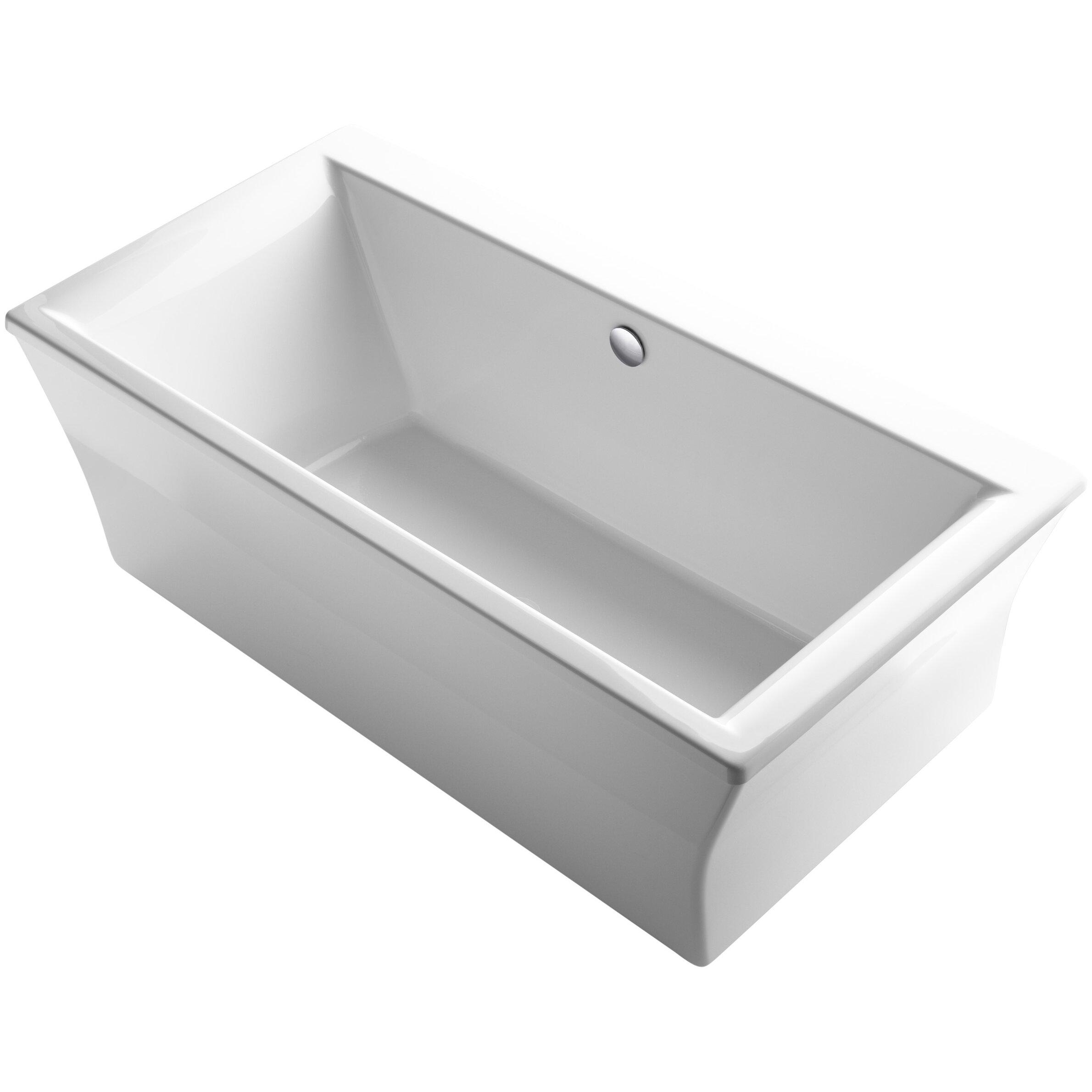 Kohler Stargaze Freestanding  X  Soaking Bathtub  Reviews - Freestanding tub end drain