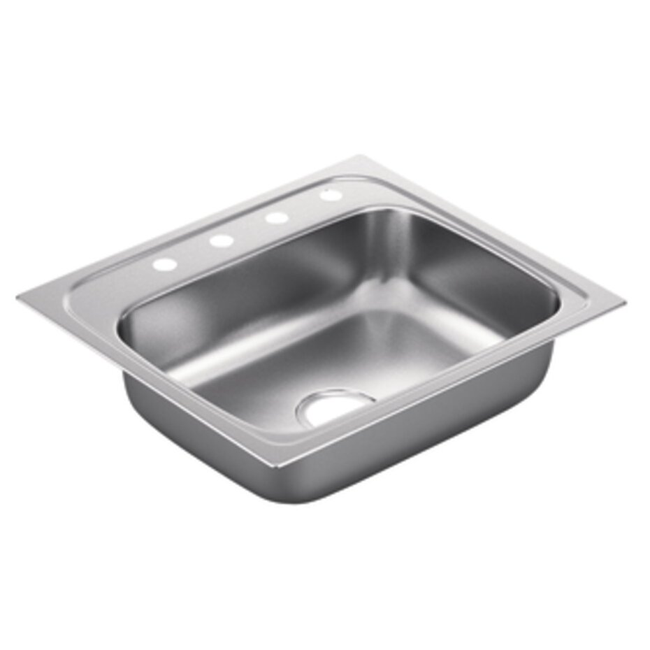 Moen 2200 Series Single Bowl Drop In Kitchen Sink. Moen 2200 Series Single Bowl Drop In Kitchen Sink   Reviews   Wayfair