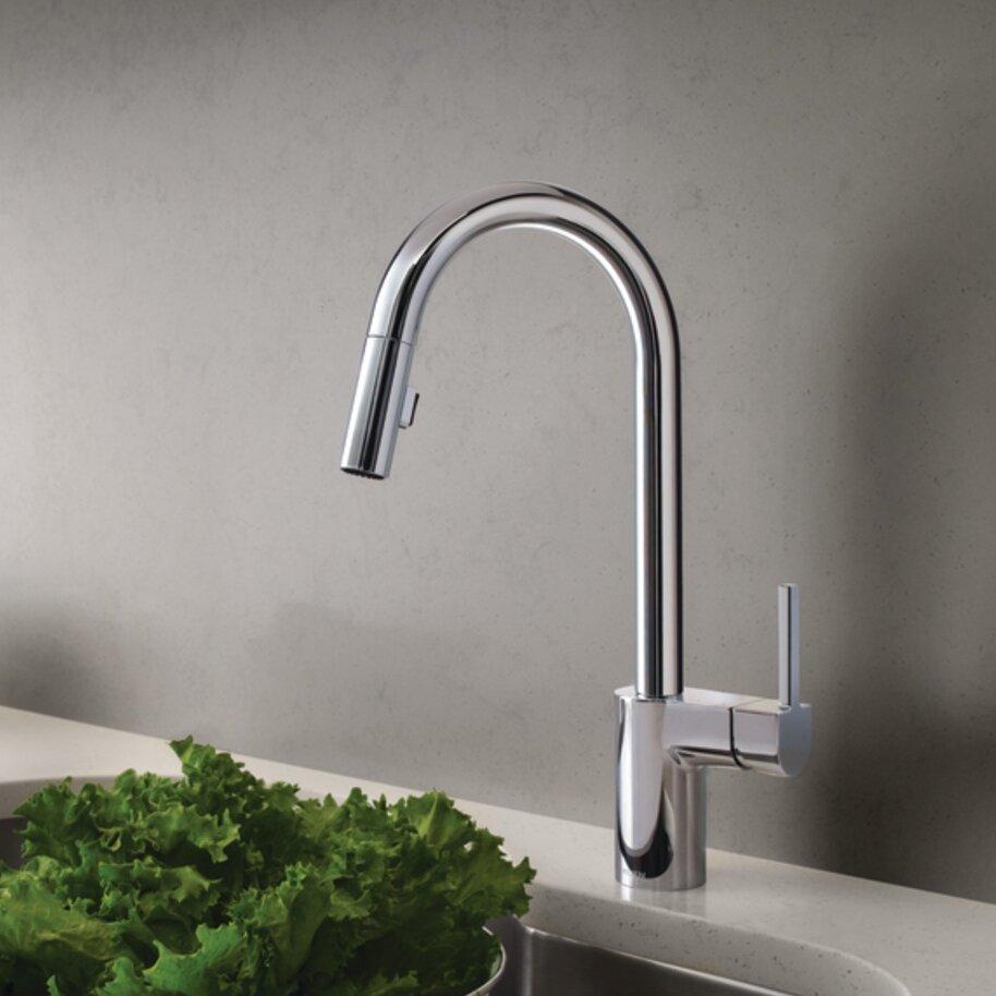 Moen Arbor Kitchen Faucet Moen Align Single Handle Kitchen Faucet Reviews Wayfair