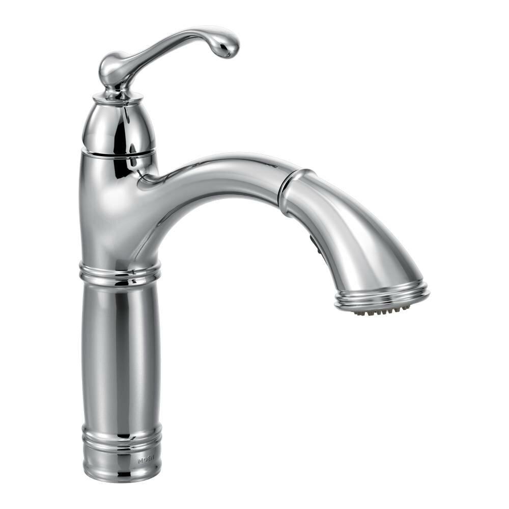 Moen Two Handle Kitchen Faucet Moen Brookshire Single Handle Single Hole Kitchen Faucet Reviews