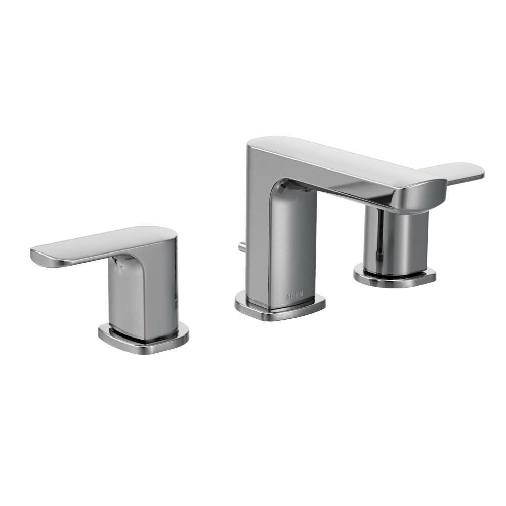 Moen Two Handle Kitchen Faucet Moen Rizon Double Handle Widespread Bathroom Faucet With Drain