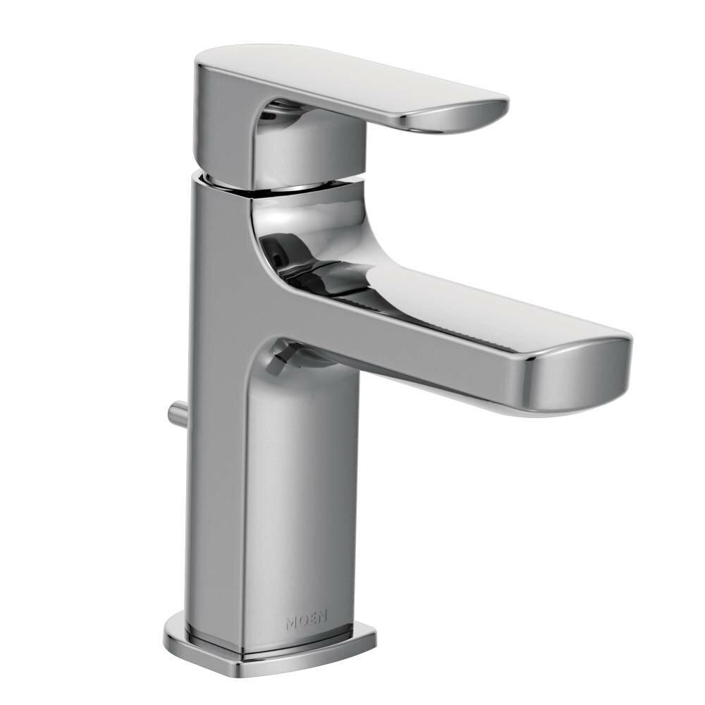 moen rizon single handle low arc bathroom faucet & reviews | wayfair