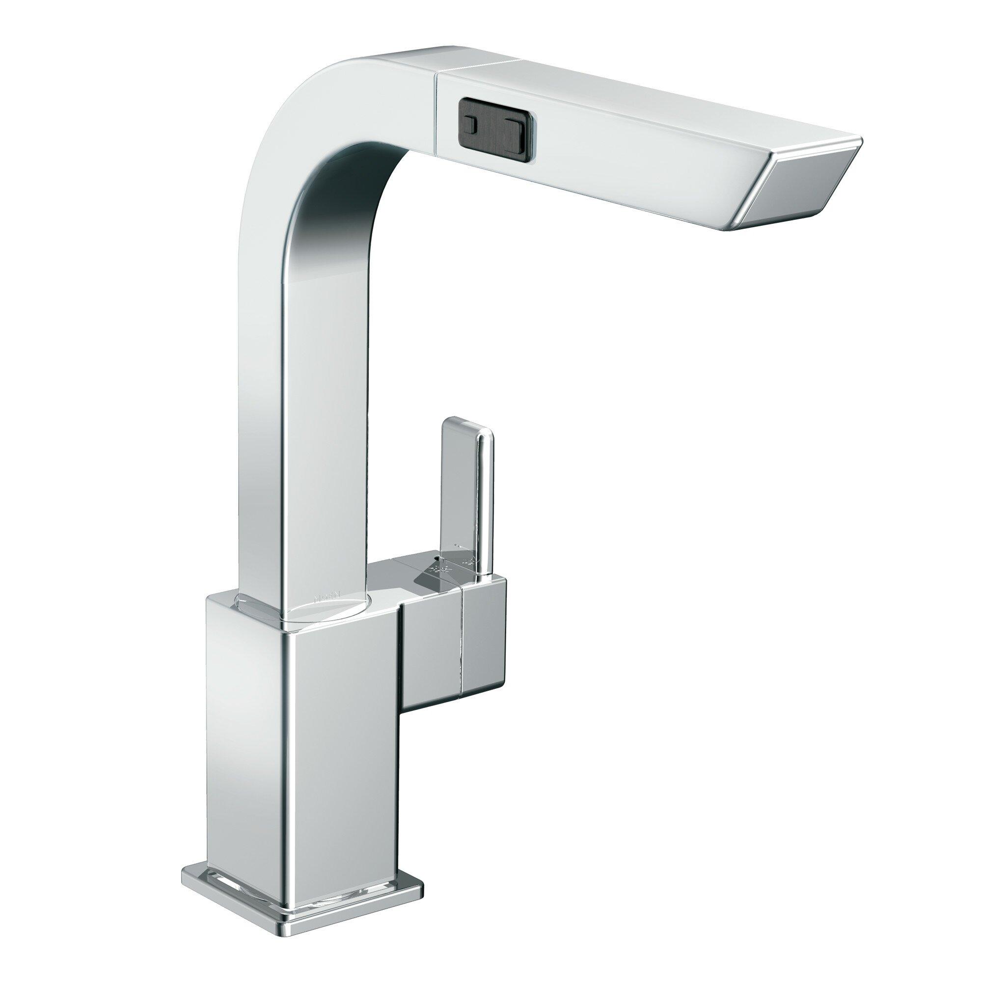 Moen Two Handle Kitchen Faucet Moen 90 Degree Single Handle Deck Mount Kitchen Faucet Reviews
