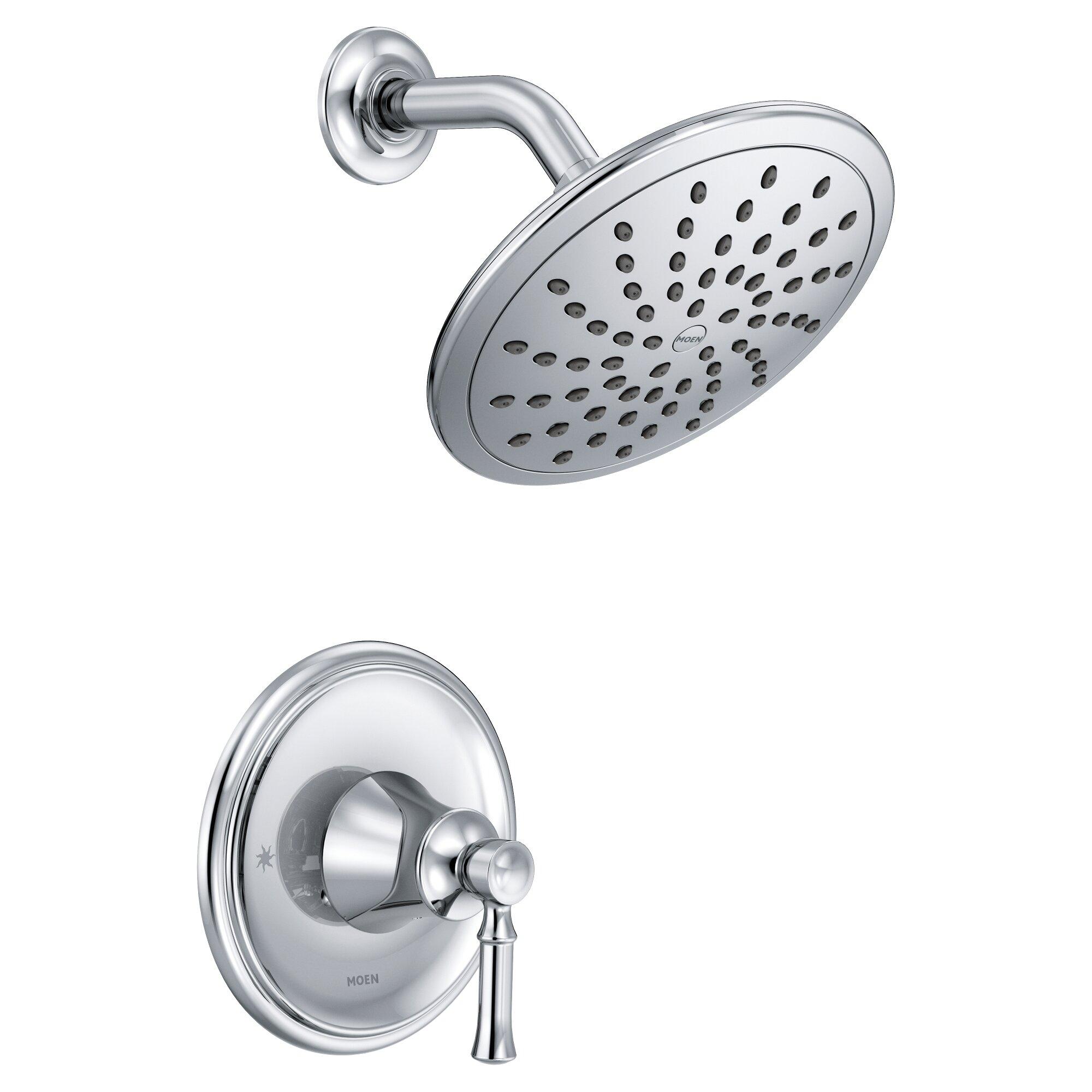 moen dartmoor pressure balance shower faucet with lever handle moen 3 handle shower faucet moenmoen banbury shower head bathing with a fulfilling shower