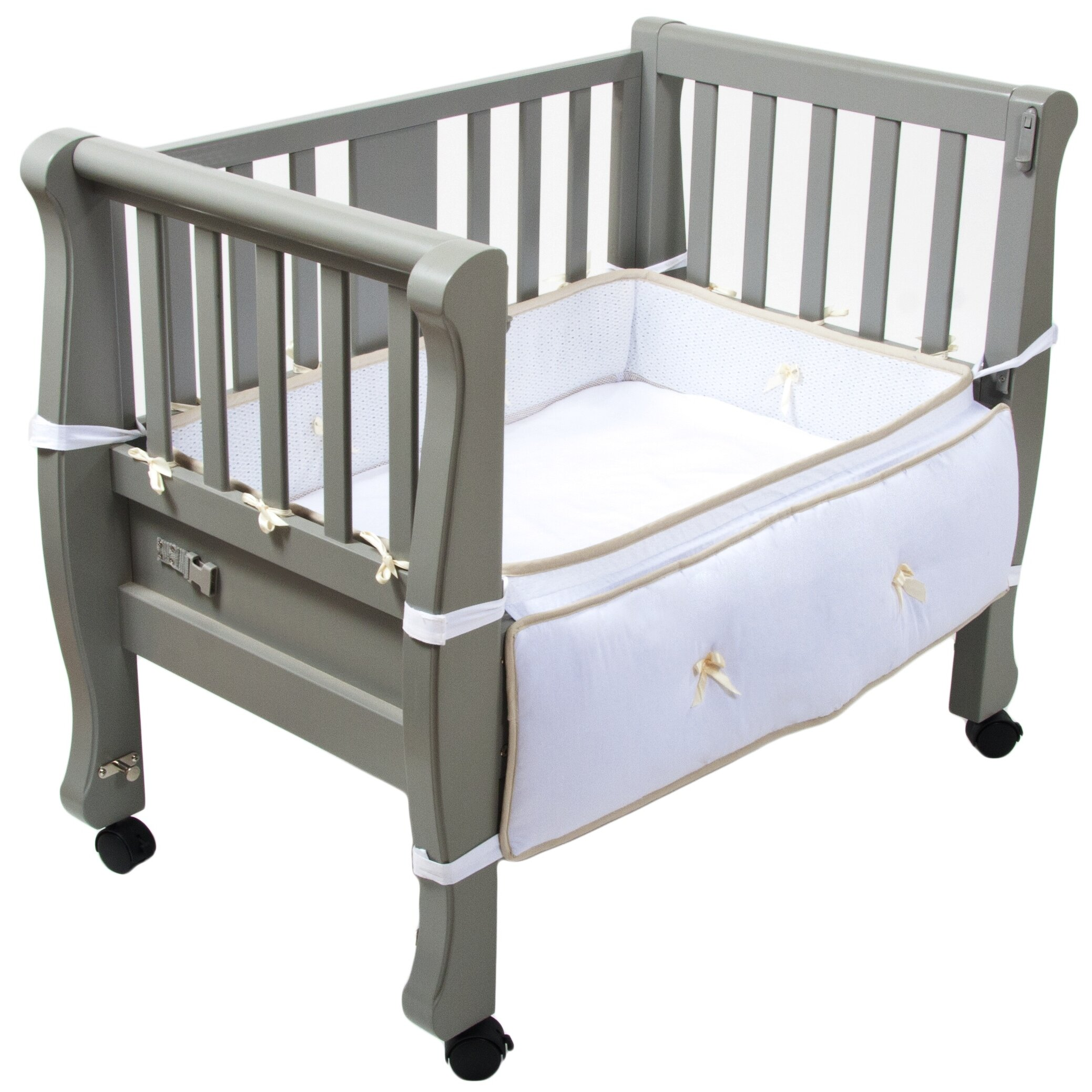 Baby bed extension co sleeper - Arm S Reach Sleigh Bed Co Sleeper Bassinet