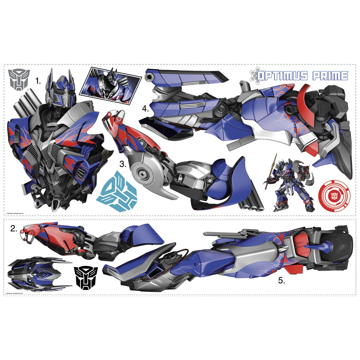 Room Mates Transformers Age of Extinction Optimus Prime Giant Wall Decal