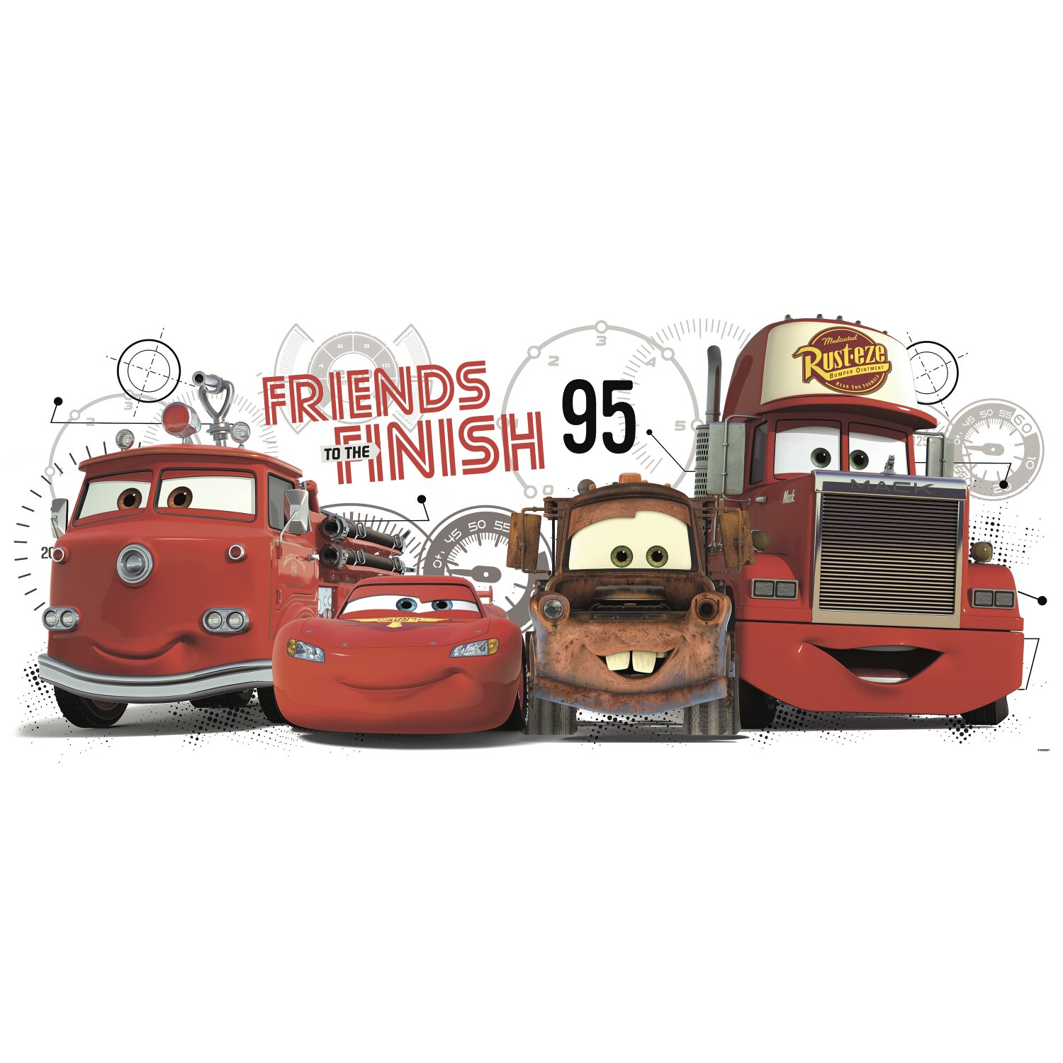 Room Mates Disney Pixar Cars Friends to The Finish Giant Wall Decal