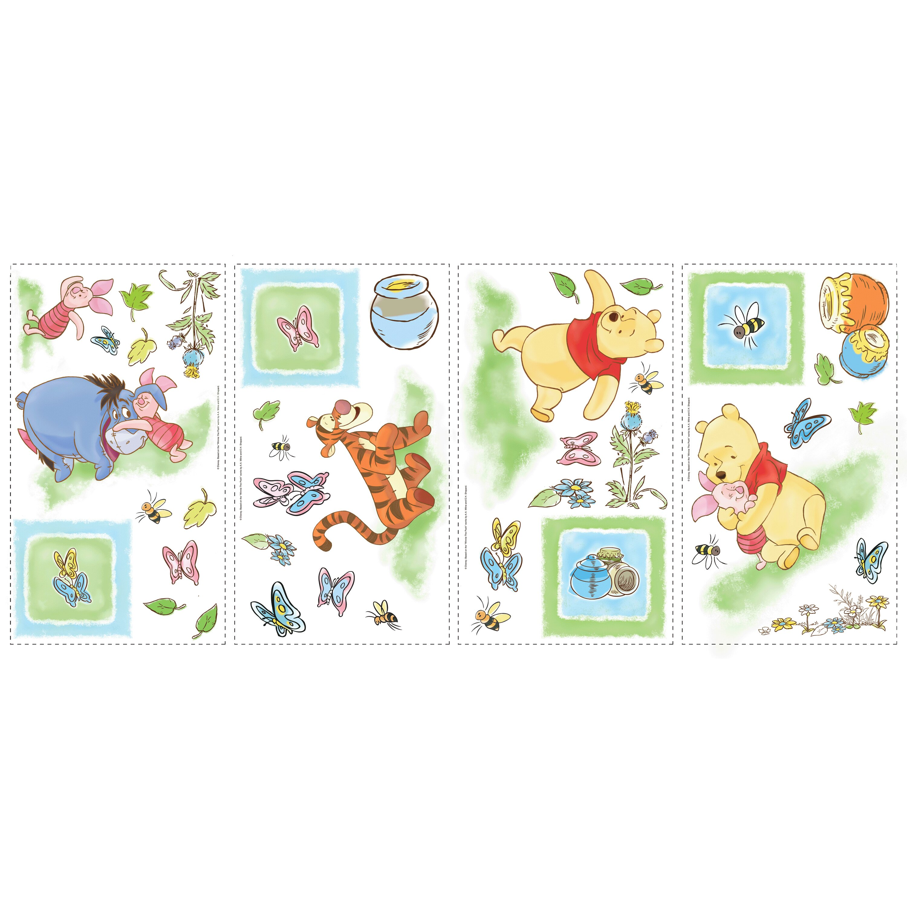 Winnie the pooh toddler bedding - Room Mates Deco Winnie The Pooh Toddler Wall Decal