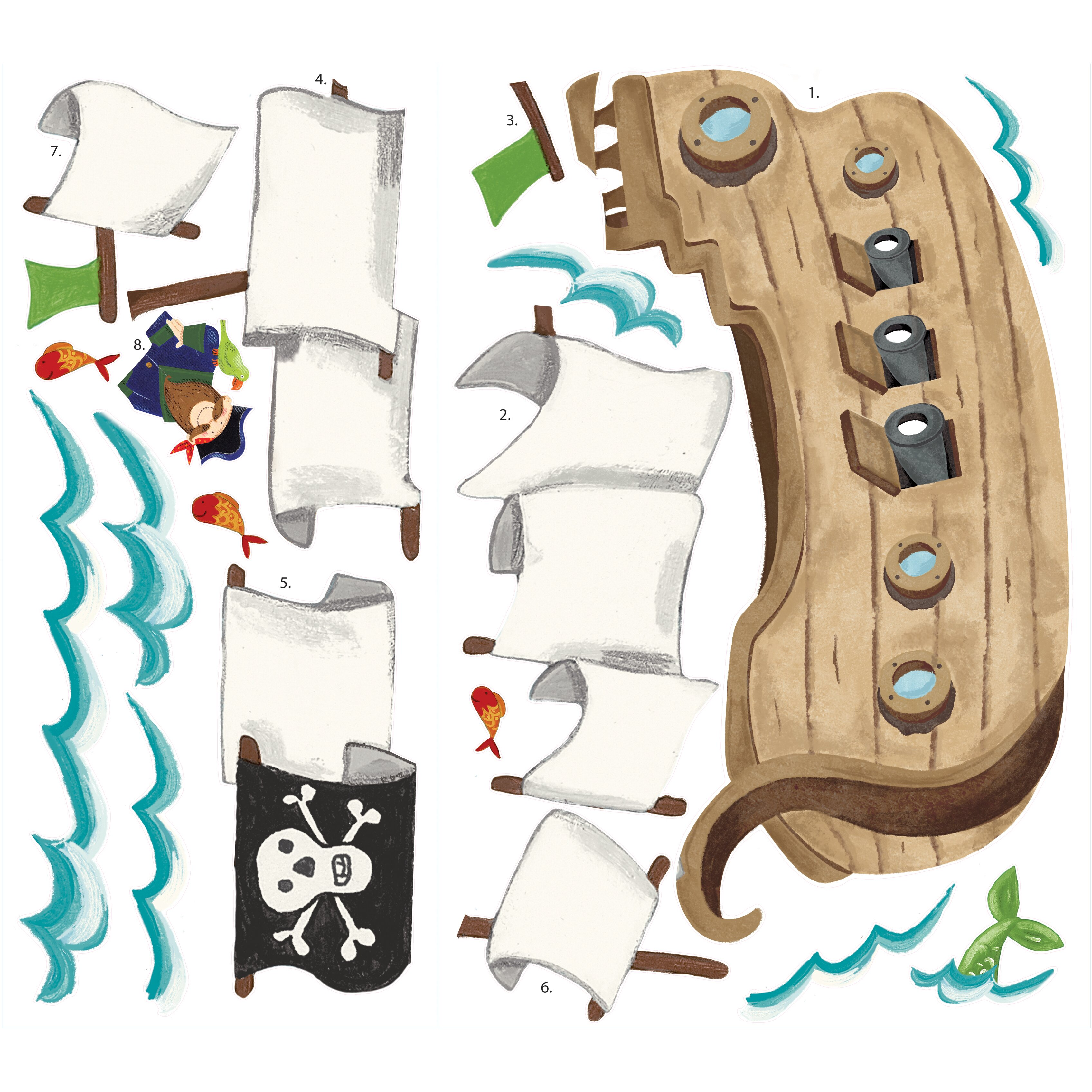 Pirate wall decals roselawnlutheran room mates studio designs pirate ship giant wall decal amipublicfo Gallery