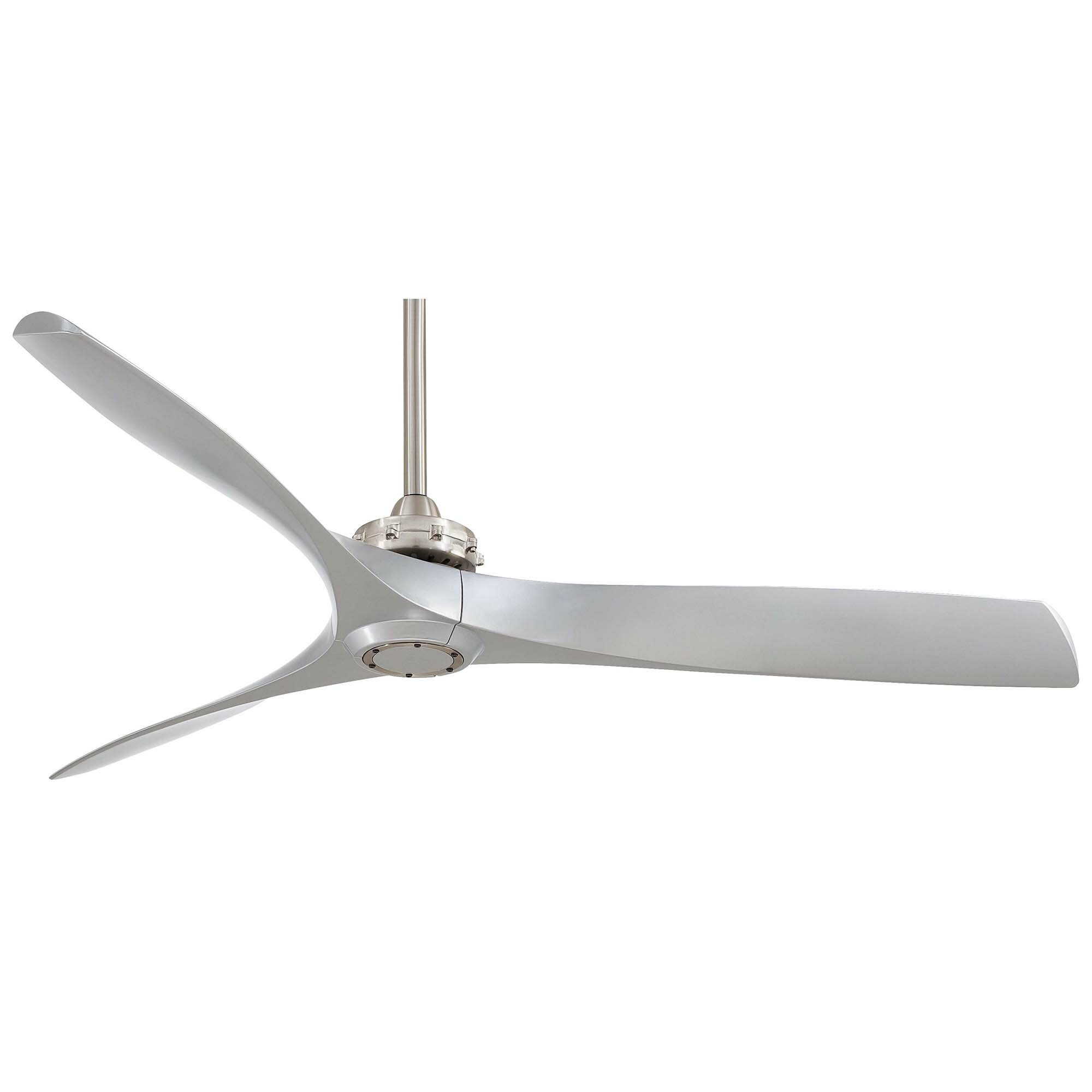 Minka Aire 60 Aviation 3 Blade Ceiling Fan with Handheld Remote