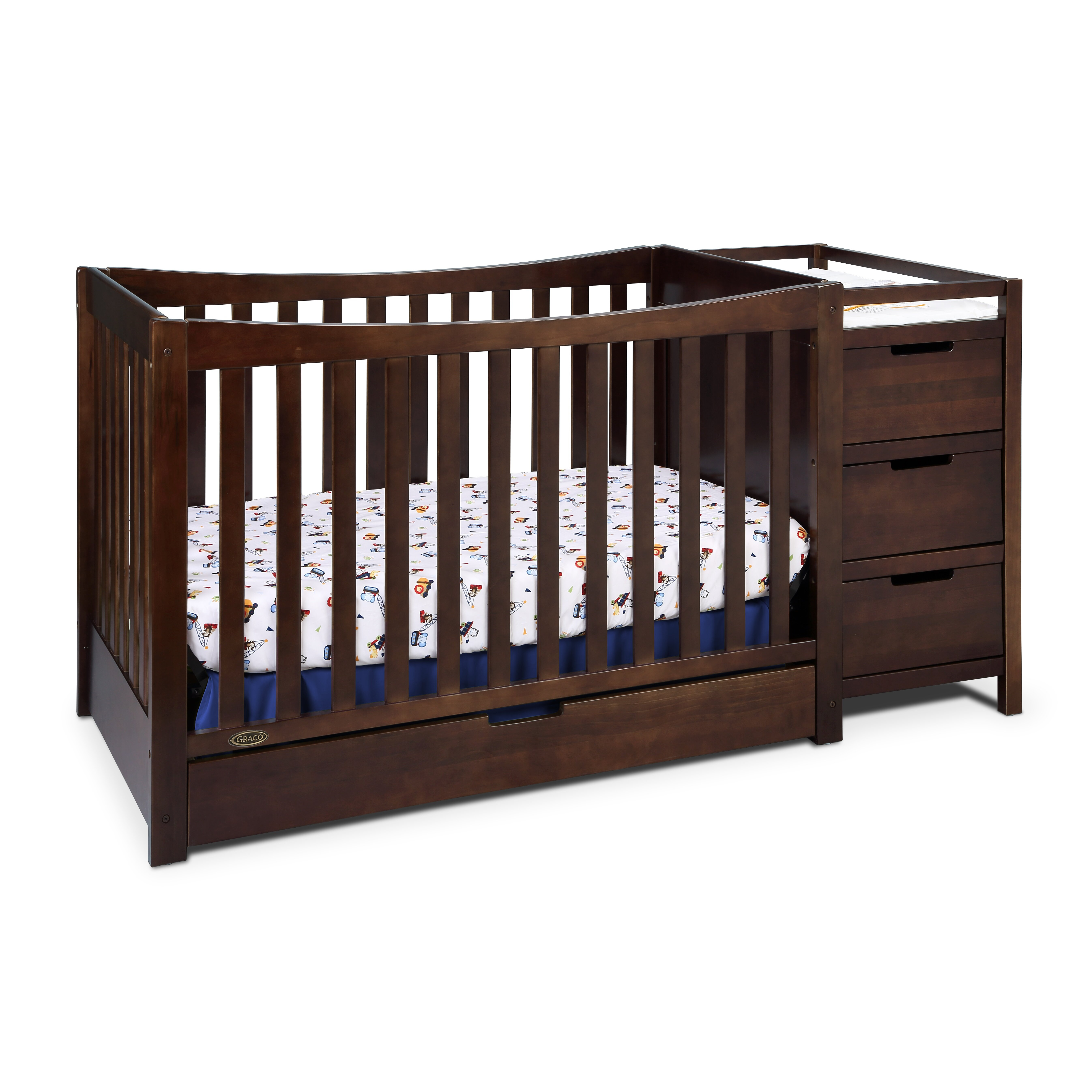 Graco Remi 4-in-1 Convertible Crib and Changer & Reviews | Wayfair.ca