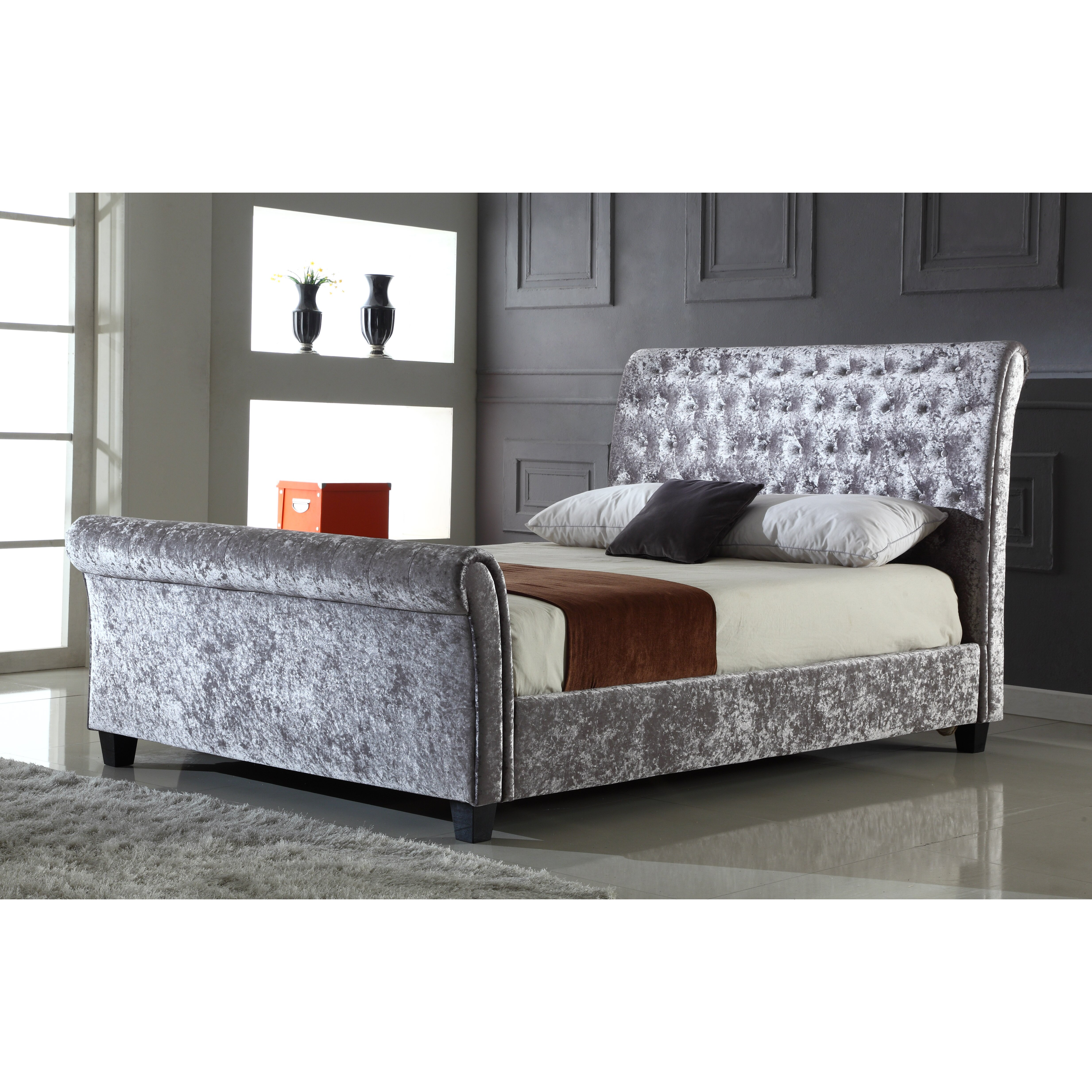 Heartlands serenity upholstered sleigh bed reviews for Upholstered sleigh bedroom set