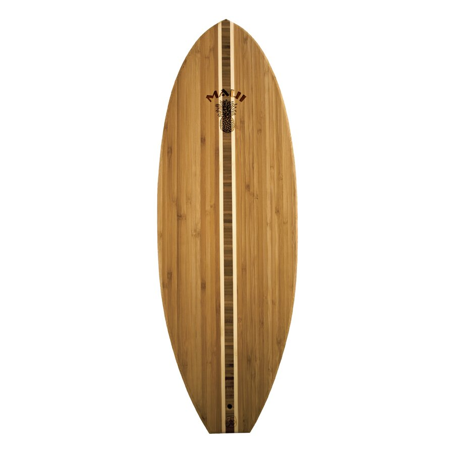 totally bamboo tropical surf board with maui logo cutting board, Kitchen design