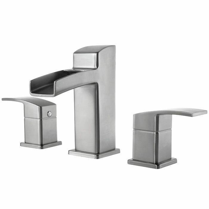 Pfister Kenzo Double Handle Widespread Waterfall Faucet Reviews Wayfair