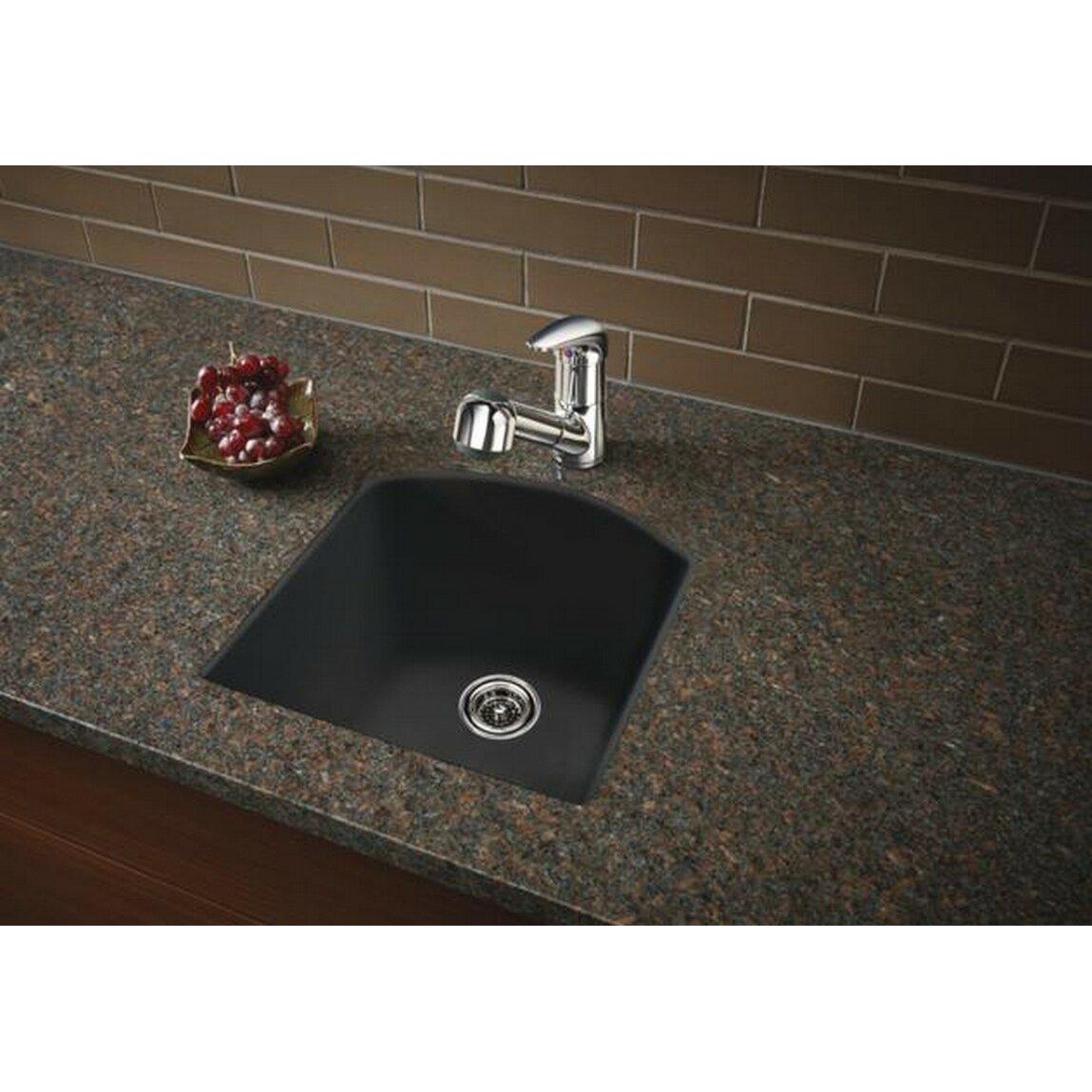 Blanco Granite Kitchen Sinks Blanco Diamond 15 X 15 Drop In Kitchen Sink Reviews Wayfair