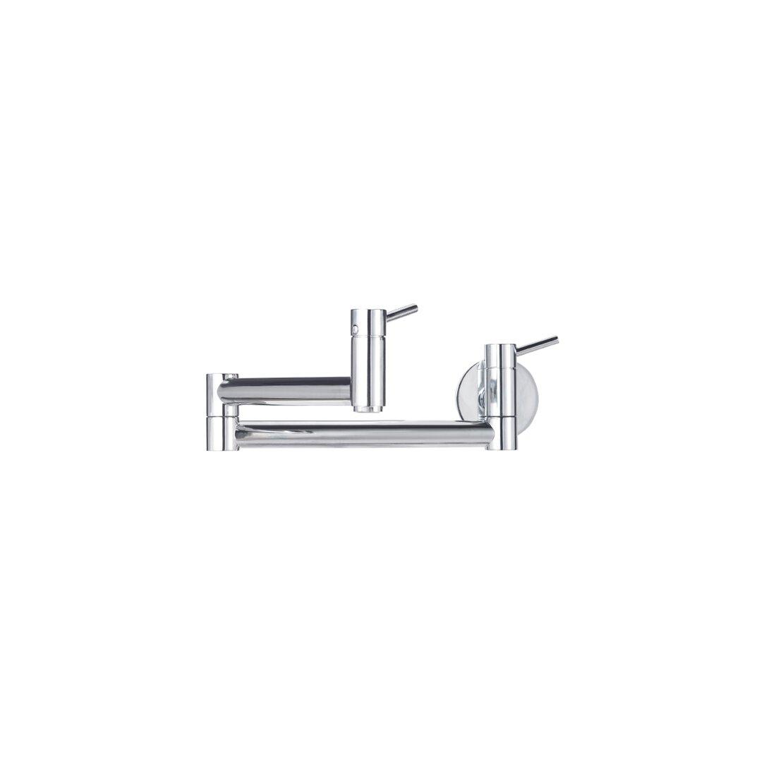 Blanco Kitchen Faucet Reviews Blanco Cantata Double Handle Pot Filler Faucet Reviews Wayfair