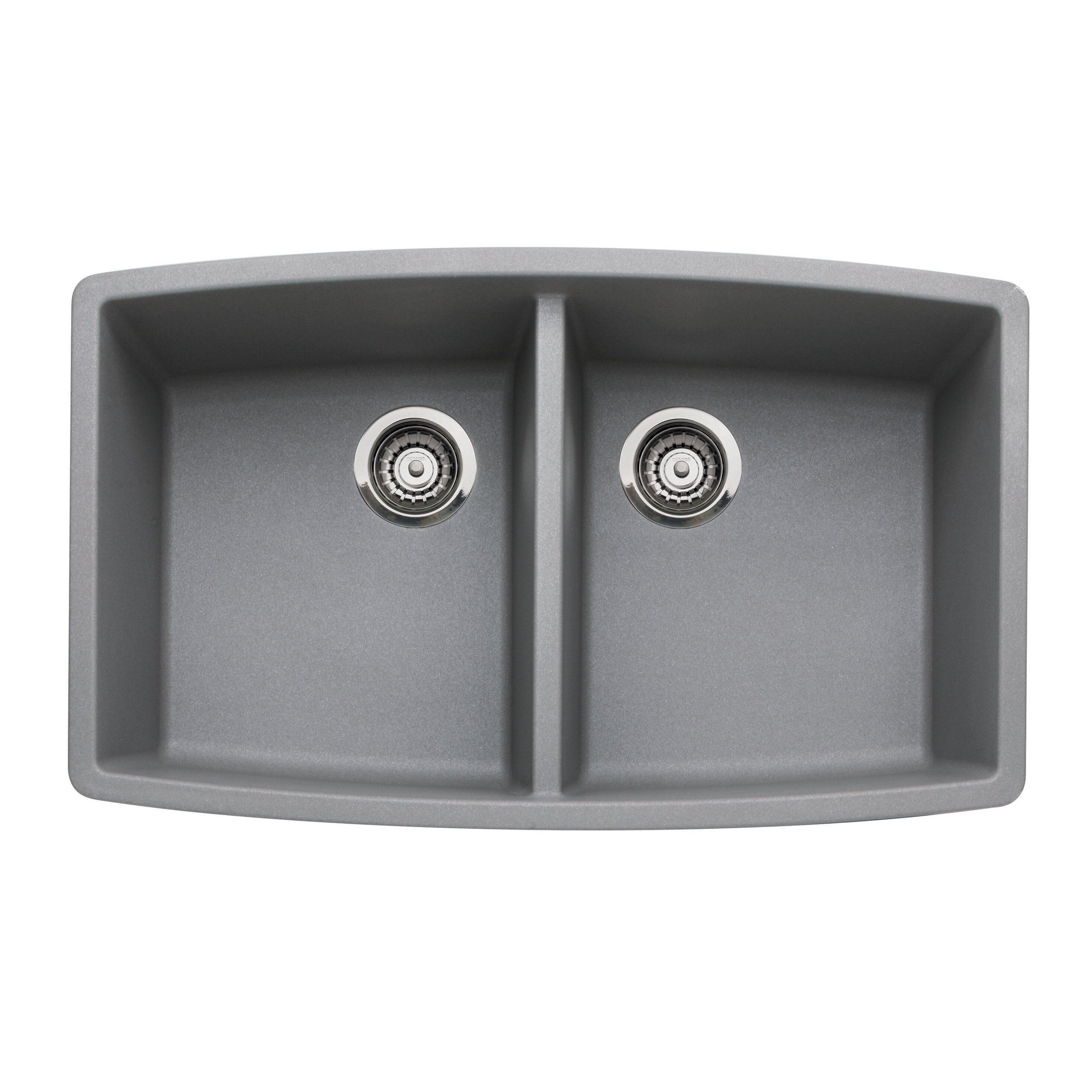 Blanco Granite Kitchen Sinks Blanco Performa 33 X 20 Double Bowl Kitchen Sink Reviews Wayfair