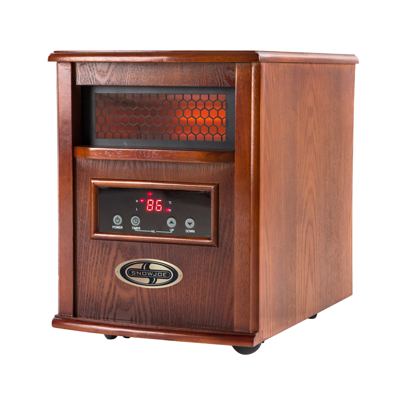 Snow Joe 1500 Watt Quartz Portable Infrared Cabinet Heater W/Stainless